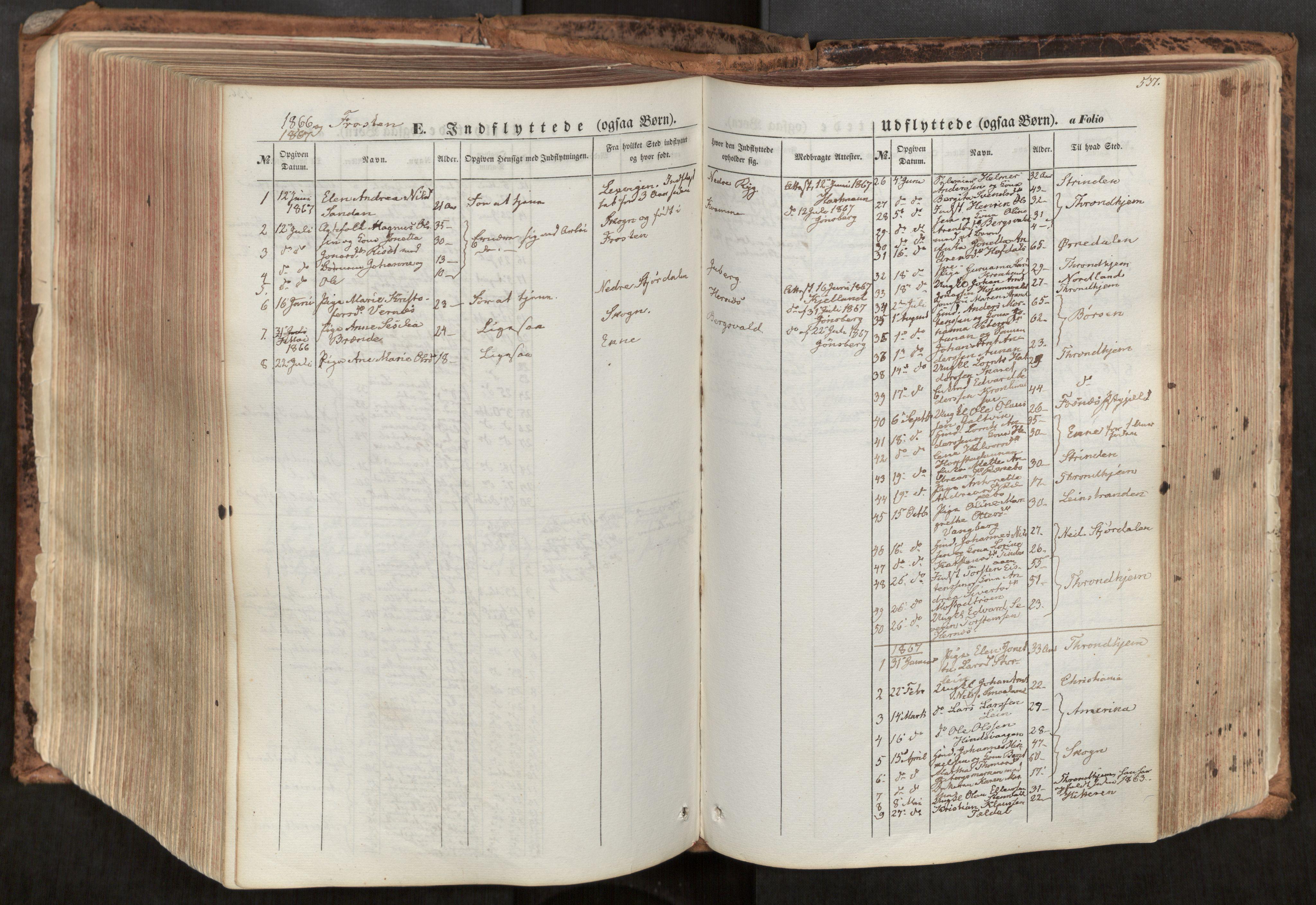 SAT, Ministerialprotokoller, klokkerbøker og fødselsregistre - Nord-Trøndelag, 713/L0116: Ministerialbok nr. 713A07, 1850-1877, s. 537