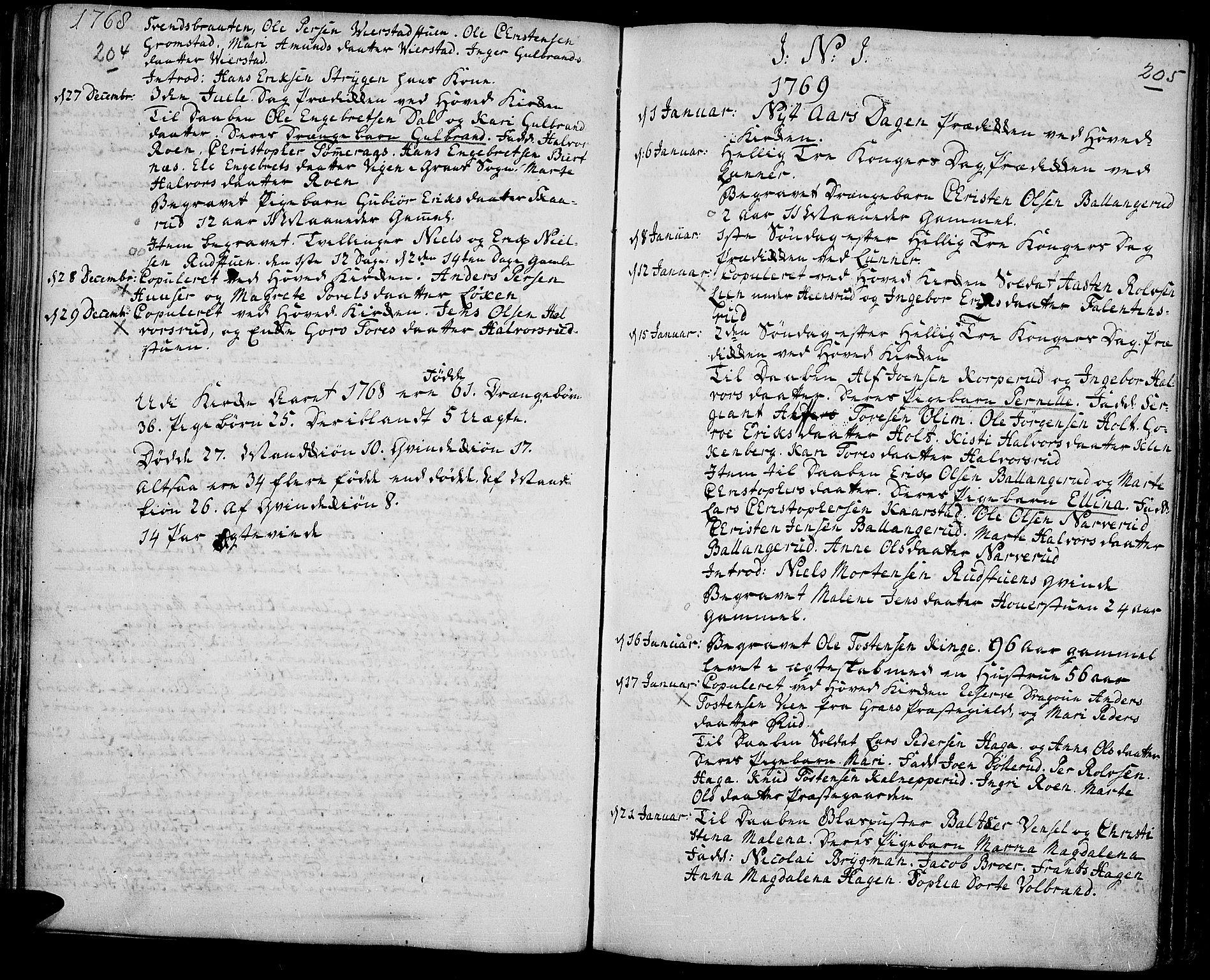 SAH, Jevnaker prestekontor, Ministerialbok nr. 3, 1752-1799, s. 204-205