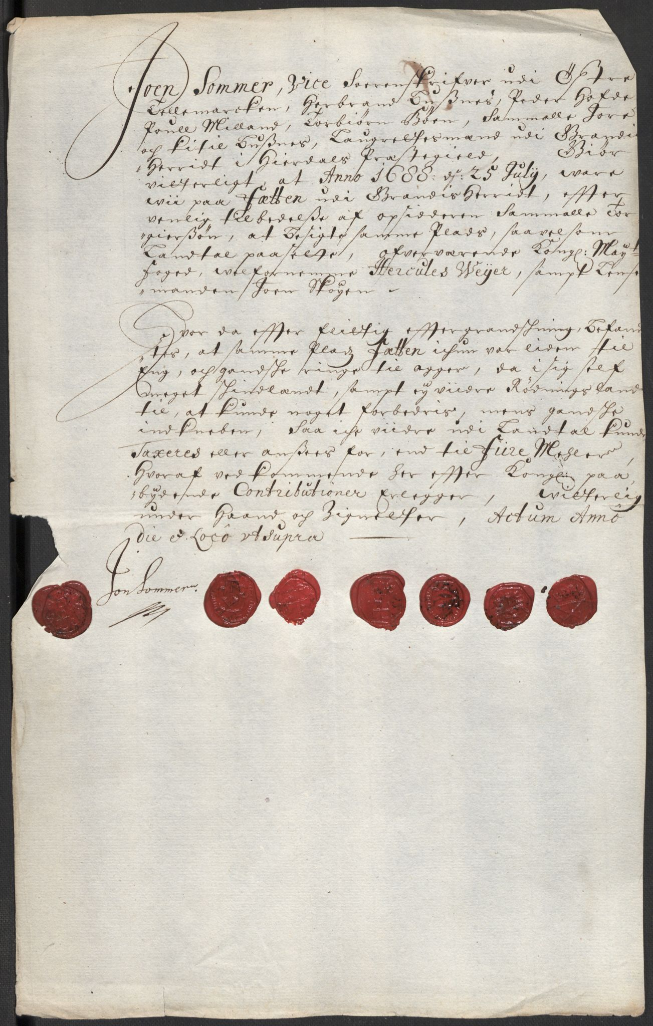 RA, Rentekammeret inntil 1814, Reviderte regnskaper, Fogderegnskap, R35/L2087: Fogderegnskap Øvre og Nedre Telemark, 1687-1689, s. 22