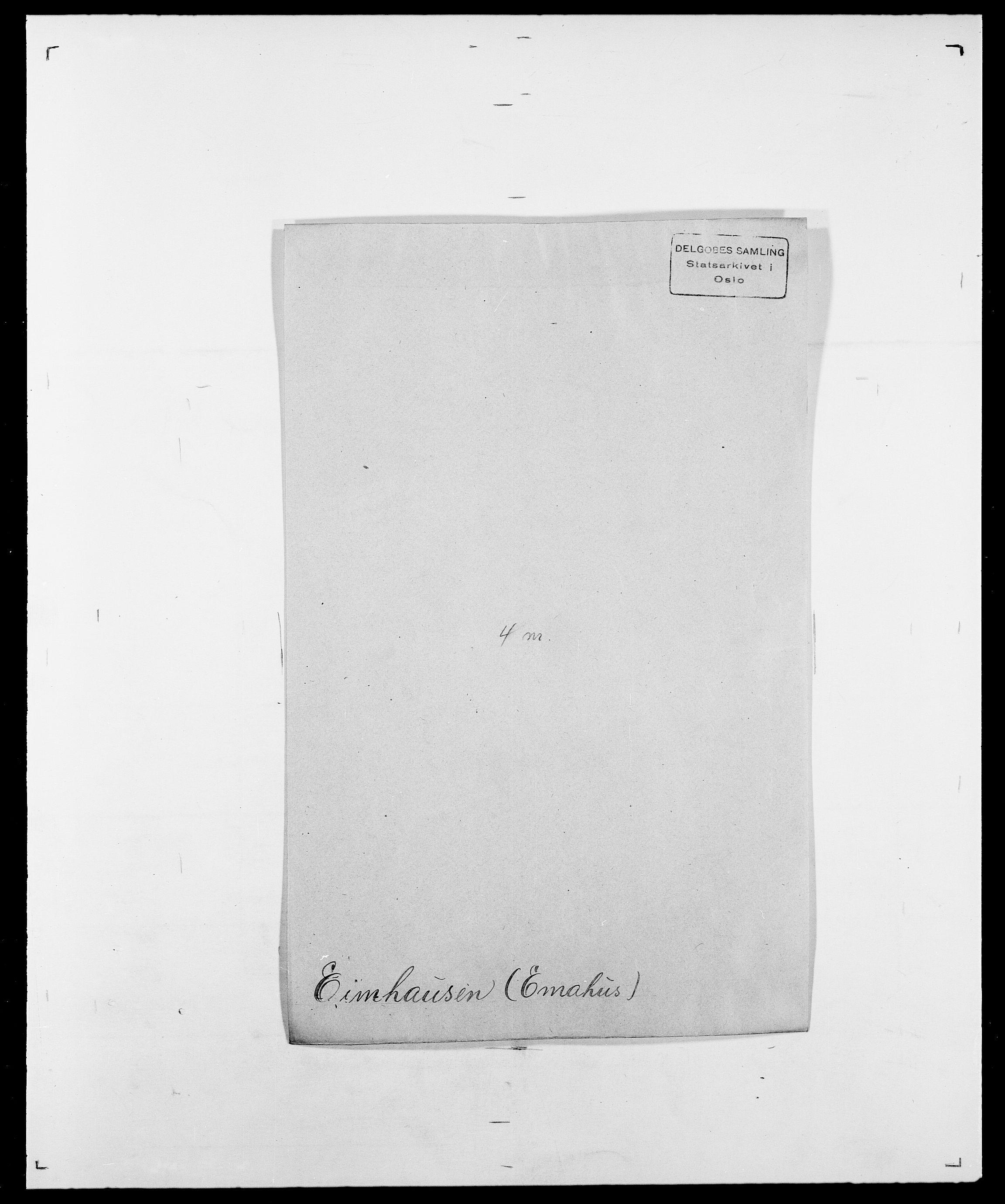 SAO, Delgobe, Charles Antoine - samling, D/Da/L0010: Dürendahl - Fagelund, s. 337