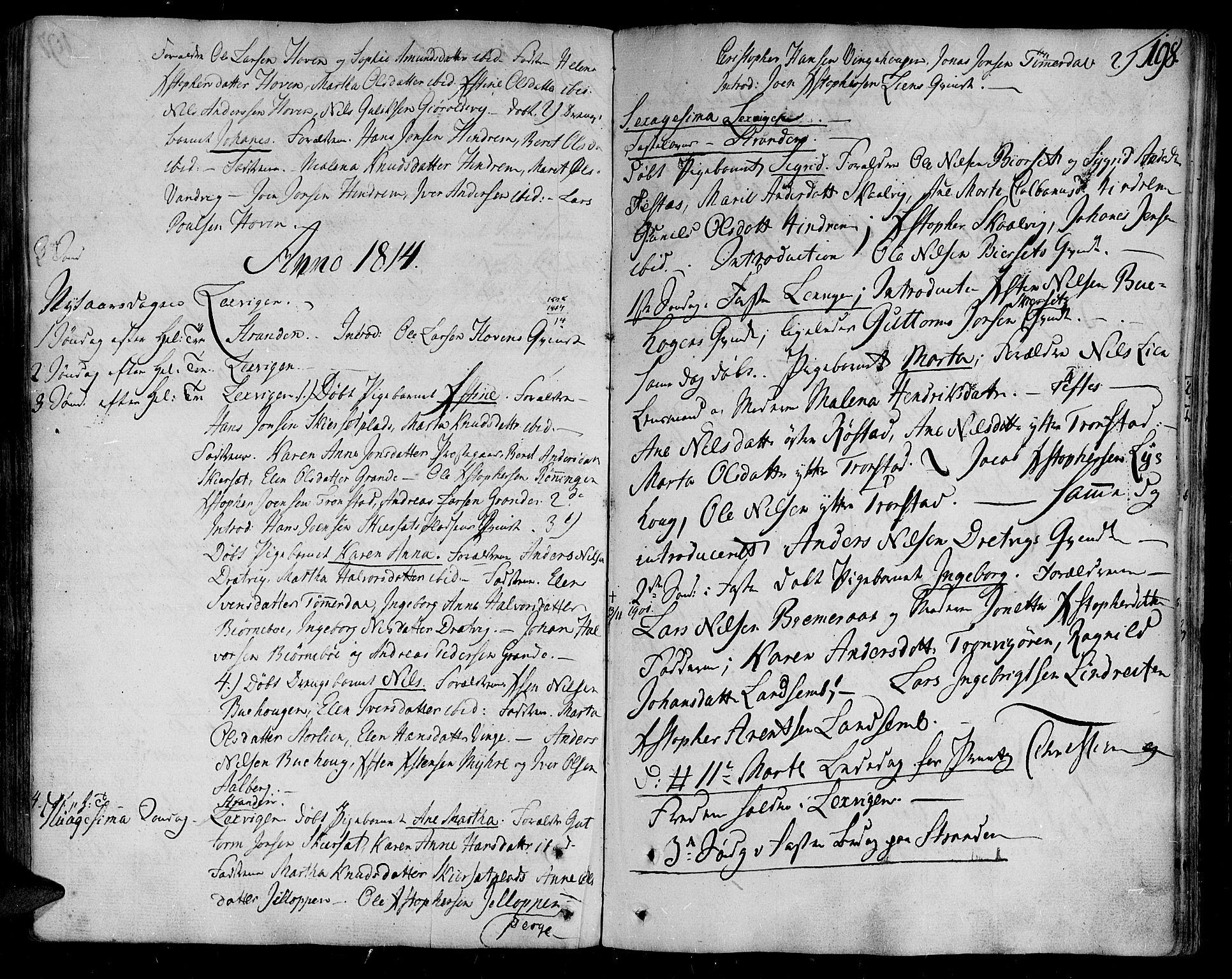 SAT, Ministerialprotokoller, klokkerbøker og fødselsregistre - Nord-Trøndelag, 701/L0004: Ministerialbok nr. 701A04, 1783-1816, s. 198