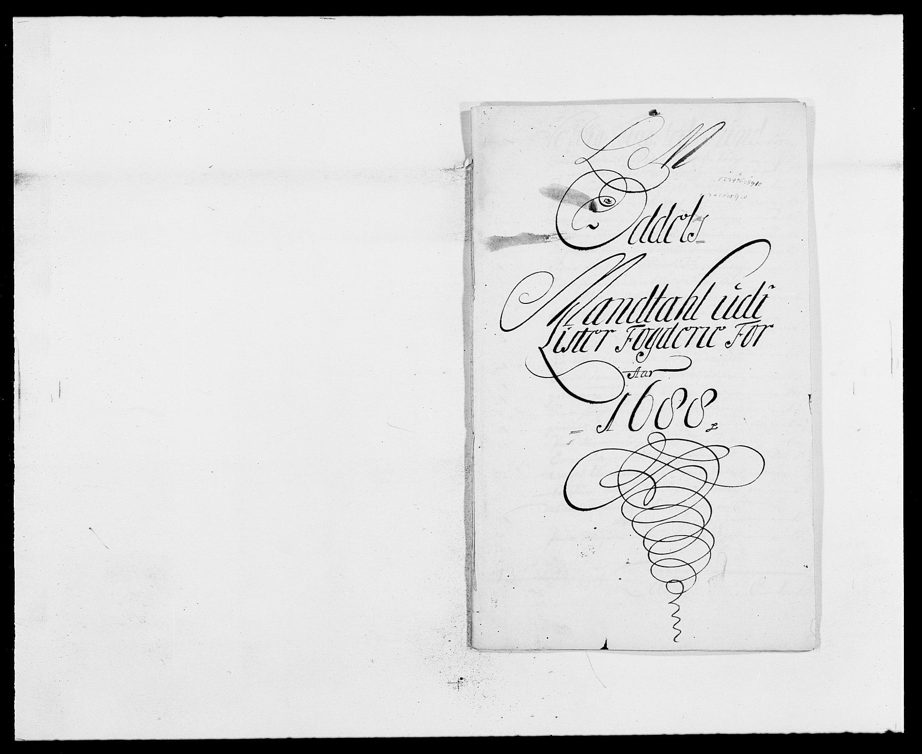 RA, Rentekammeret inntil 1814, Reviderte regnskaper, Fogderegnskap, R41/L2534: Fogderegnskap Lista, 1686-1688, s. 199