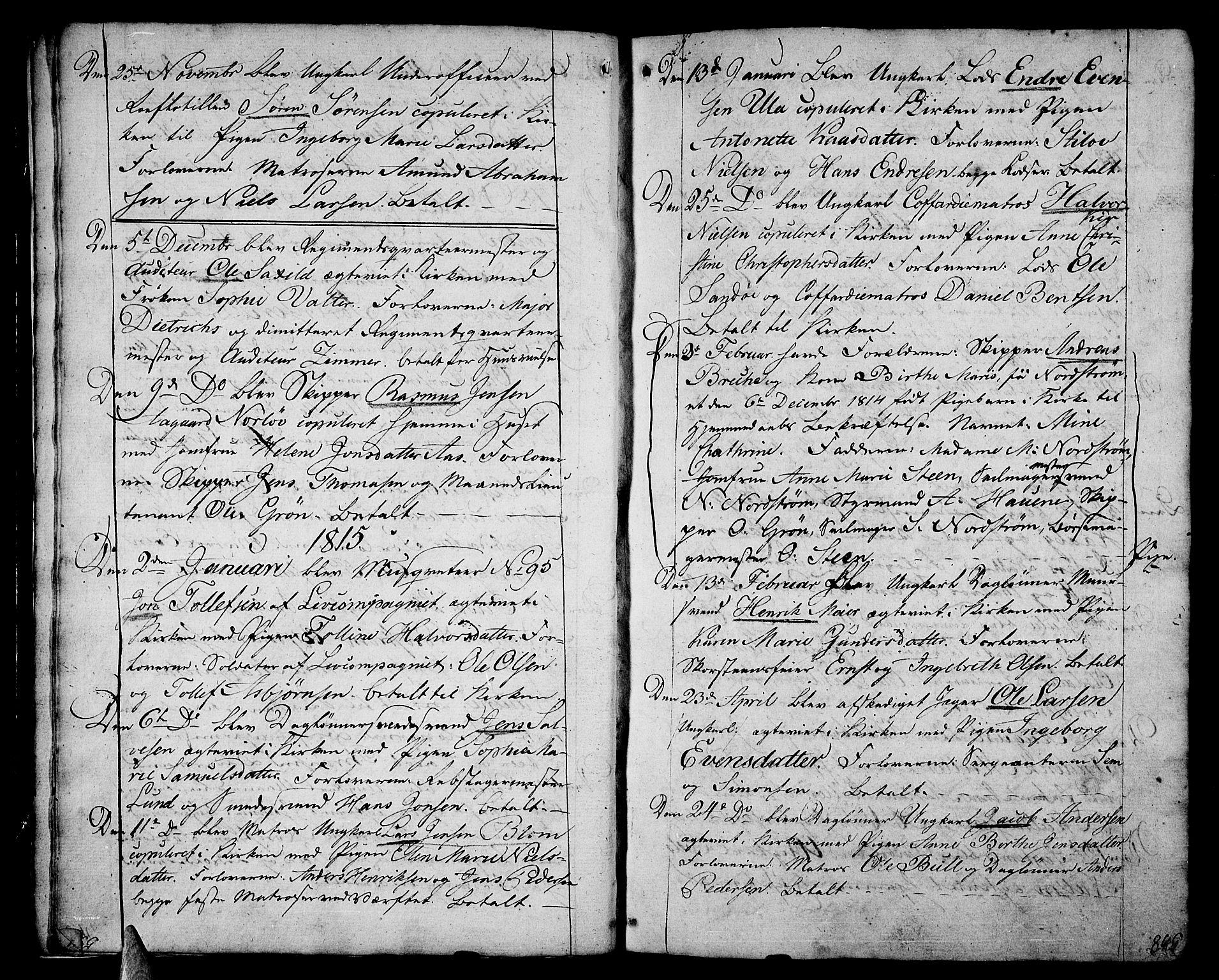 SAKO, Stavern kirkebøker, F/Fa/L0004: Ministerialbok nr. 4, 1809-1816, s. 538-539