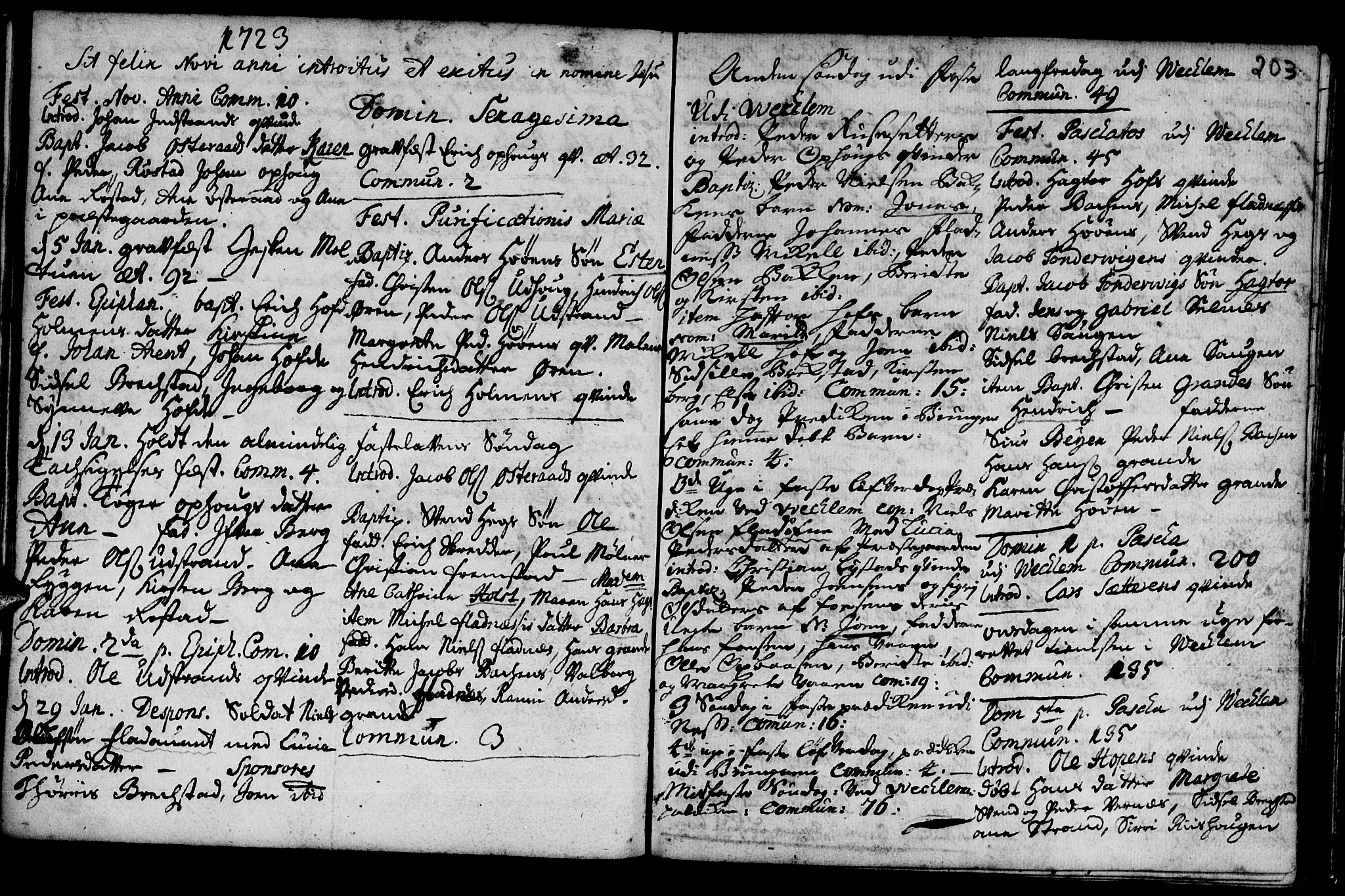 SAT, Ministerialprotokoller, klokkerbøker og fødselsregistre - Sør-Trøndelag, 659/L0731: Ministerialbok nr. 659A01, 1709-1731, s. 202-203