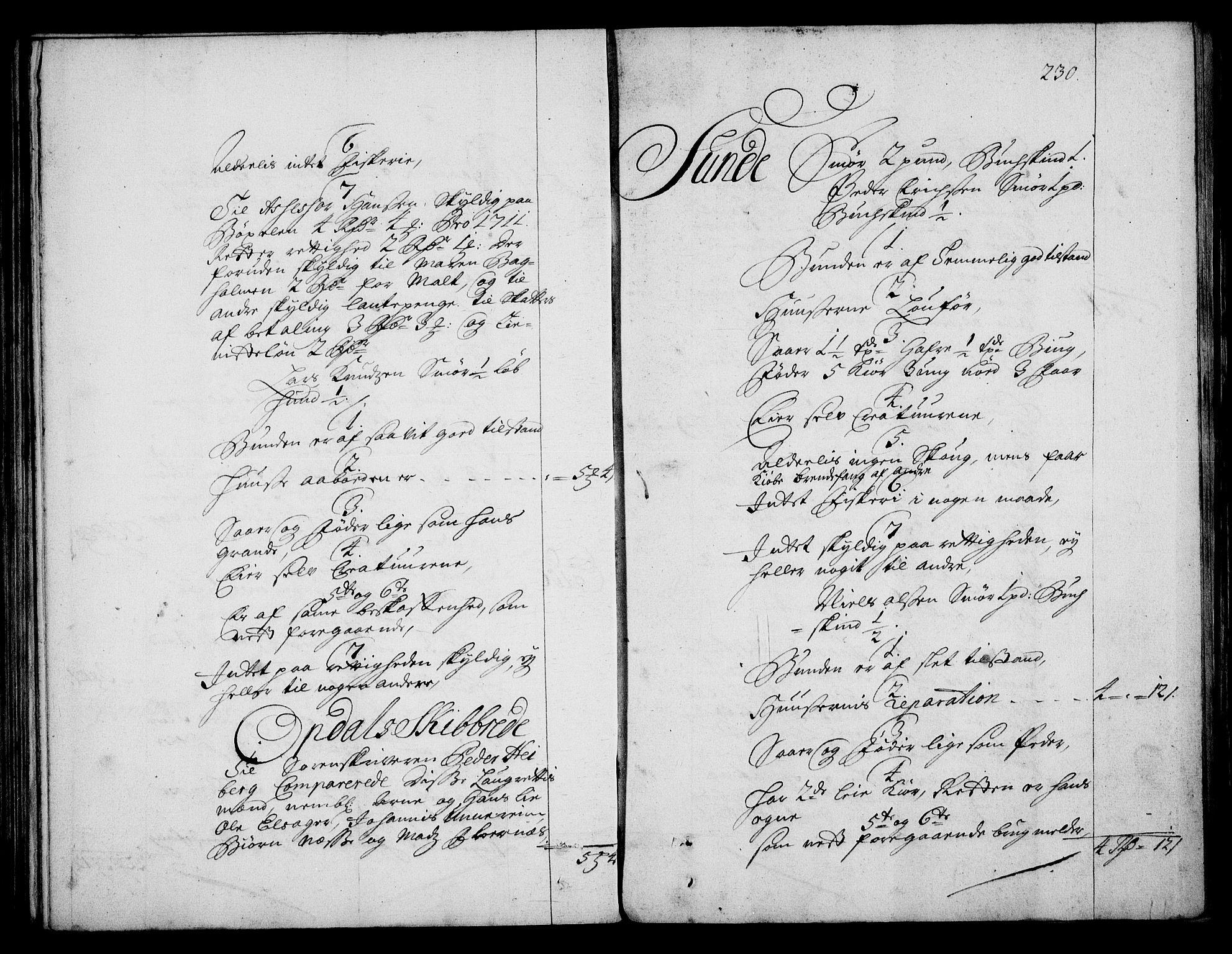 RA, Rentekammeret inntil 1814, Realistisk ordnet avdeling, On/L0003: [Jj 4]: Kommisjonsforretning over Vilhelm Hanssøns forpaktning av Halsnøy klosters gods, 1712-1722, s. 229b-230a