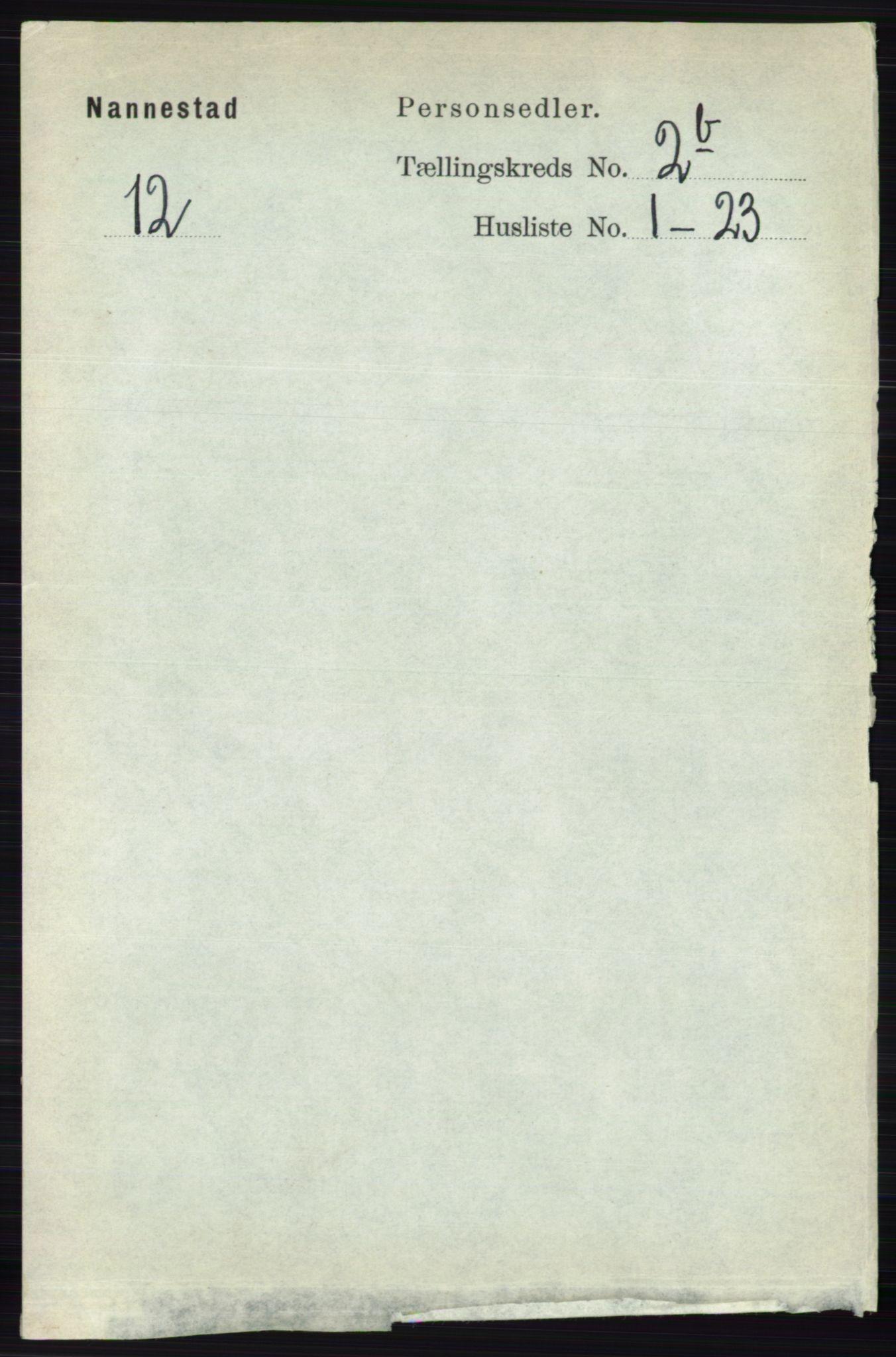RA, Folketelling 1891 for 0238 Nannestad herred, 1891, s. 1155