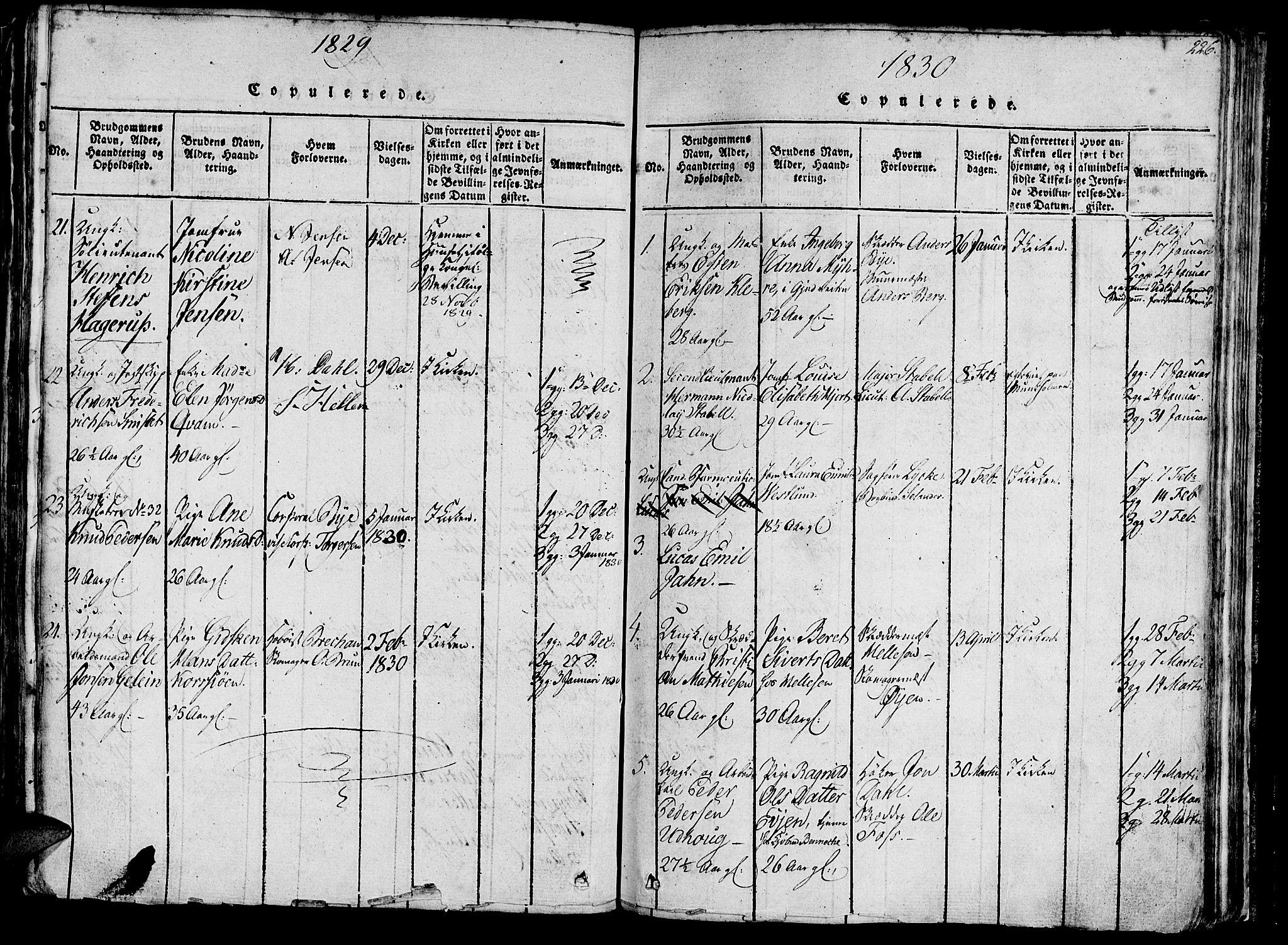 SAT, Ministerialprotokoller, klokkerbøker og fødselsregistre - Sør-Trøndelag, 602/L0135: Klokkerbok nr. 602C03, 1815-1832, s. 226