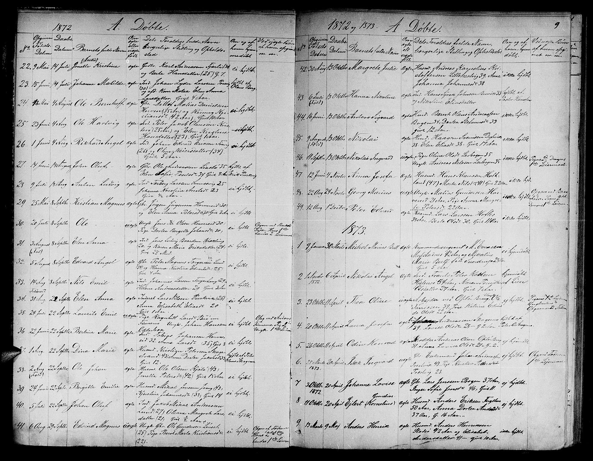 SAT, Ministerialprotokoller, klokkerbøker og fødselsregistre - Nord-Trøndelag, 780/L0650: Klokkerbok nr. 780C02, 1866-1884, s. 9