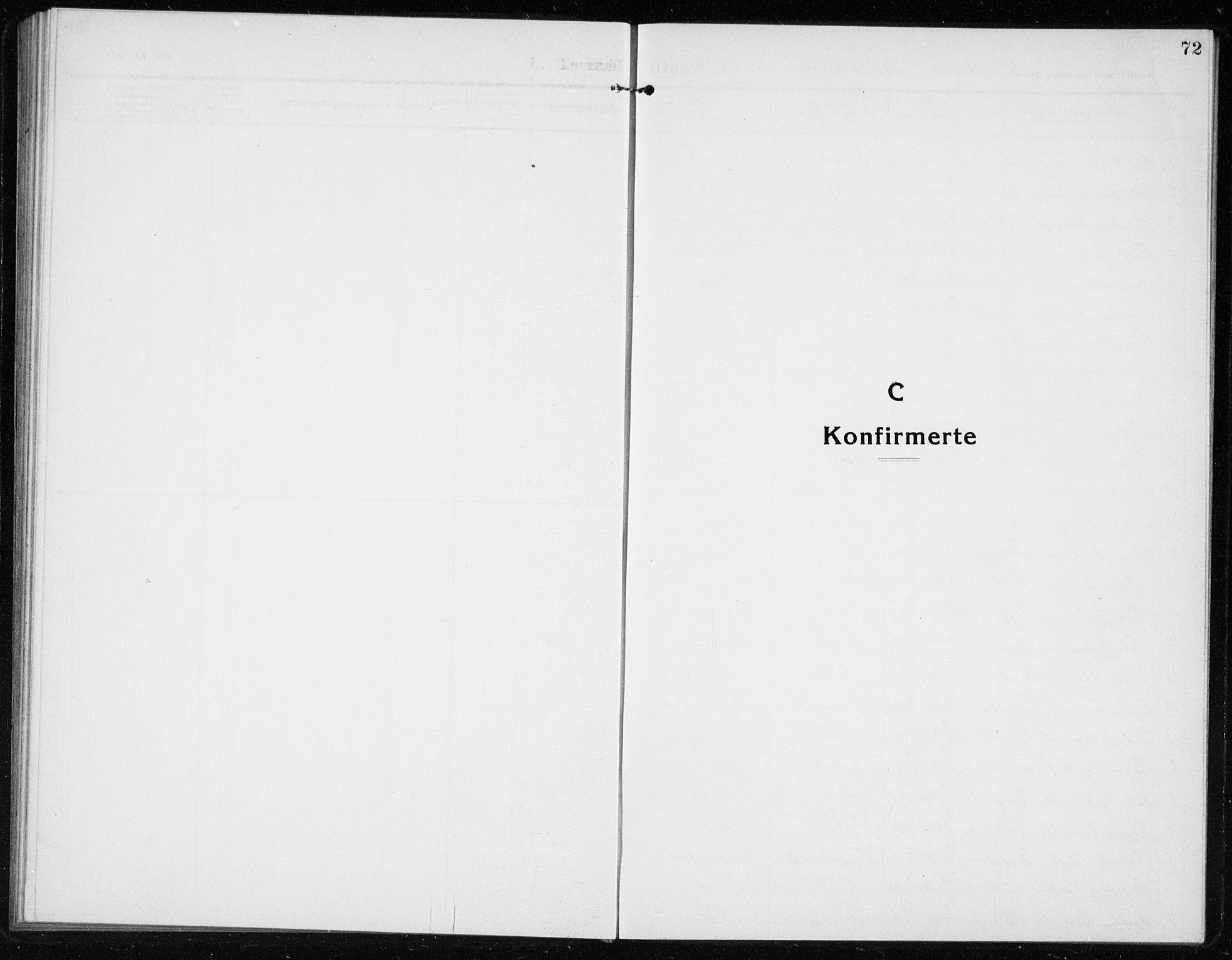 SAB, Vik Sokneprestembete, Klokkerbok nr. A 5, 1915-1935, s. 72