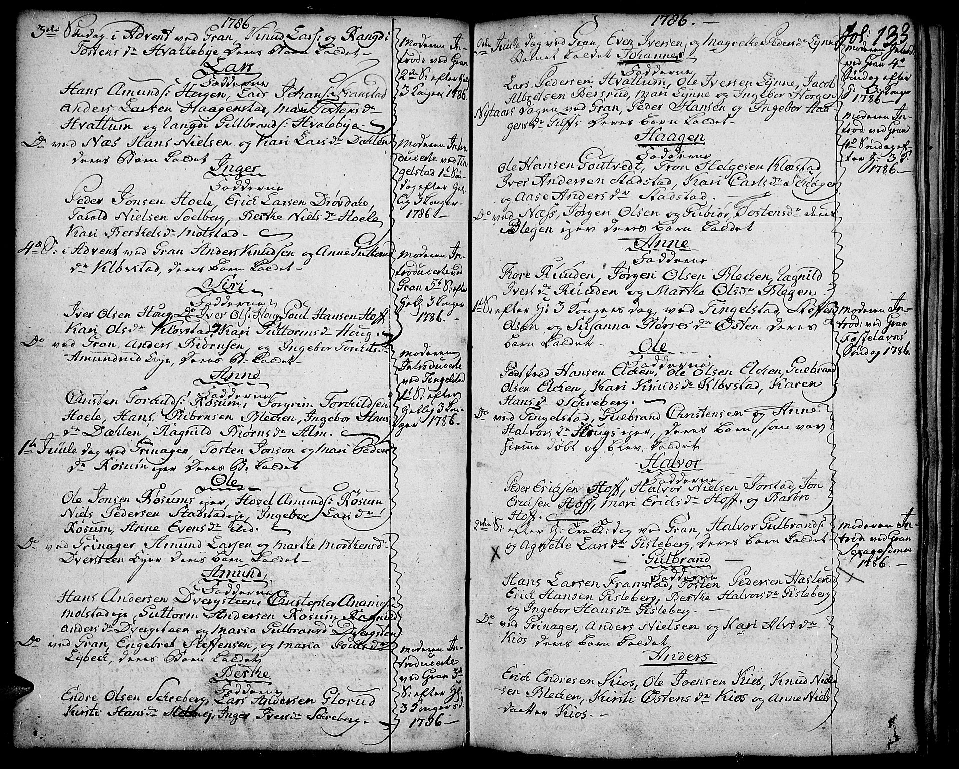 SAH, Gran prestekontor, Ministerialbok nr. 5, 1776-1788, s. 133
