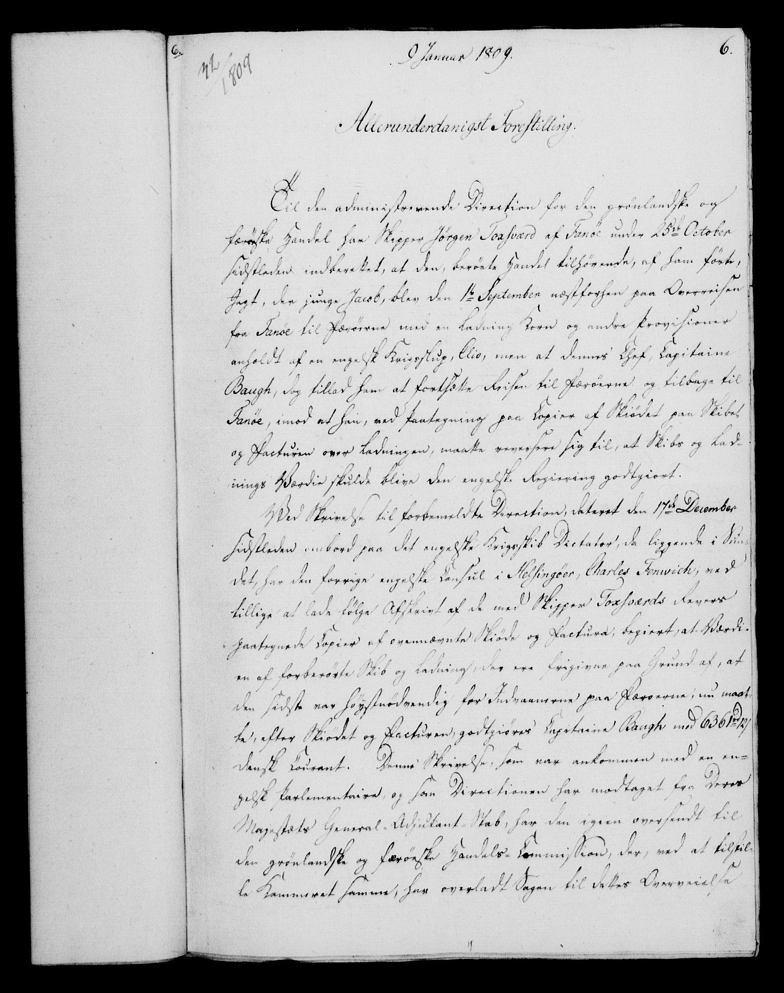 RA, Rentekammeret, Kammerkanselliet, G/Gf/Gfa/L0091: Norsk relasjons- og resolusjonsprotokoll (merket RK 52.91), 1809, s. 51