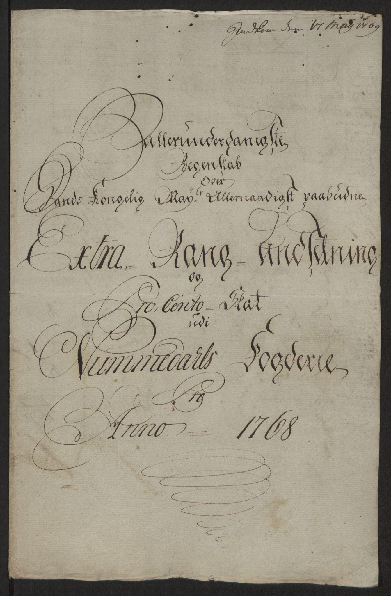 RA, Rentekammeret inntil 1814, Reviderte regnskaper, Fogderegnskap, R64/L4502: Ekstraskatten Namdal, 1762-1772, s. 257