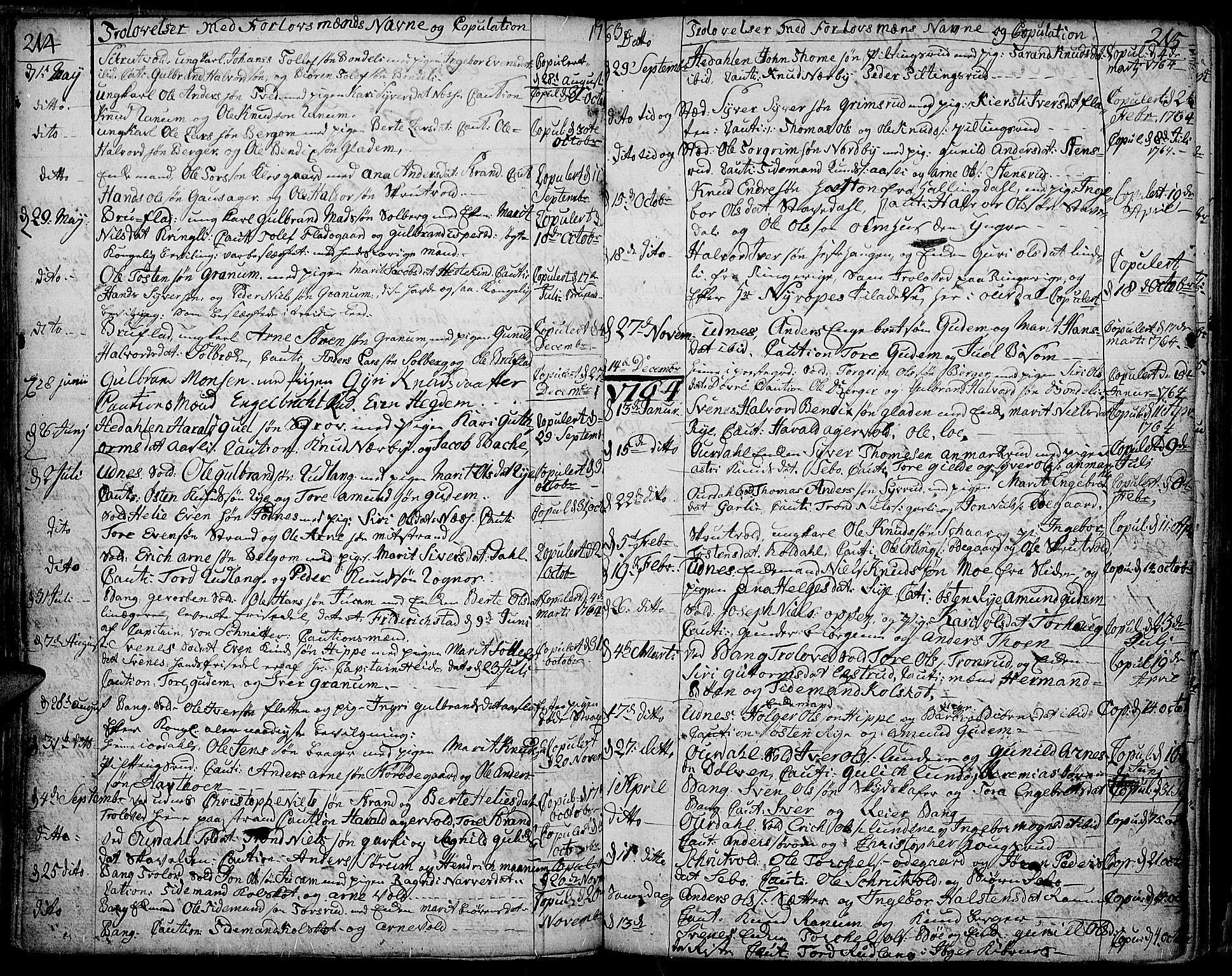 SAH, Aurdal prestekontor, Ministerialbok nr. 5, 1763-1781, s. 214-215