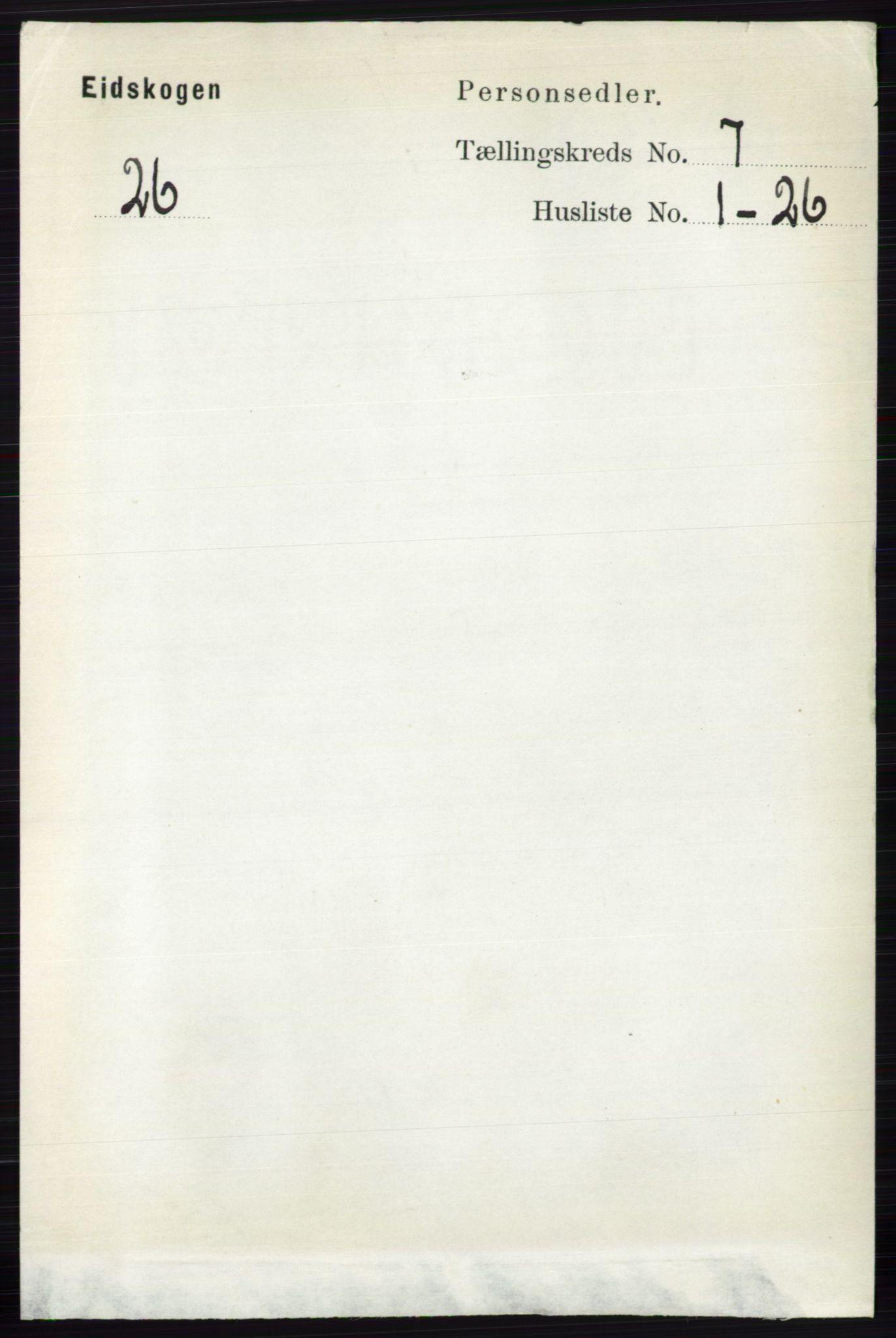 RA, Folketelling 1891 for 0420 Eidskog herred, 1891, s. 3675