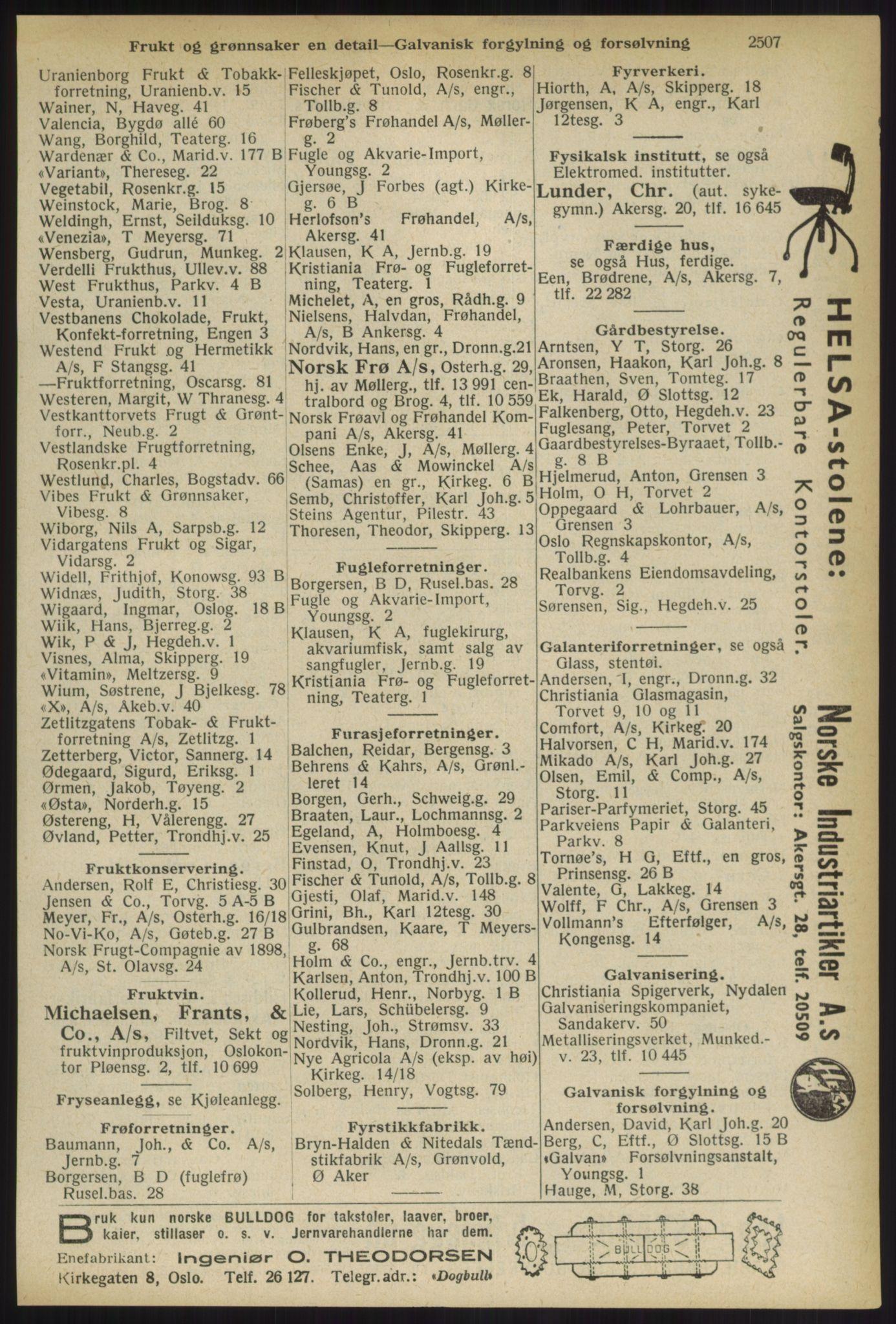 RA, Oslo adressebok (publikasjon)*, 1936, s. 2507