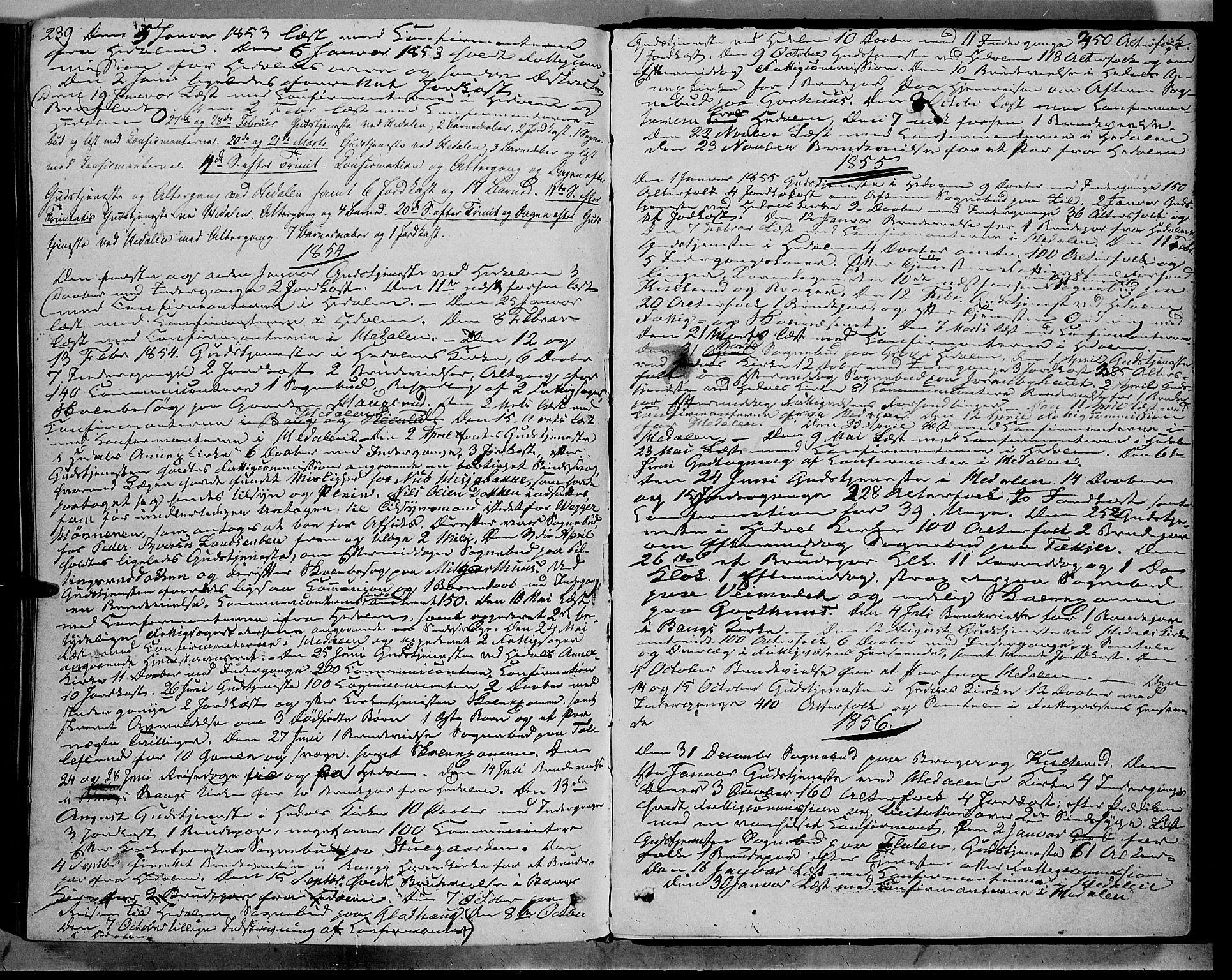 SAH, Sør-Aurdal prestekontor, Ministerialbok nr. 7, 1849-1876, s. 239