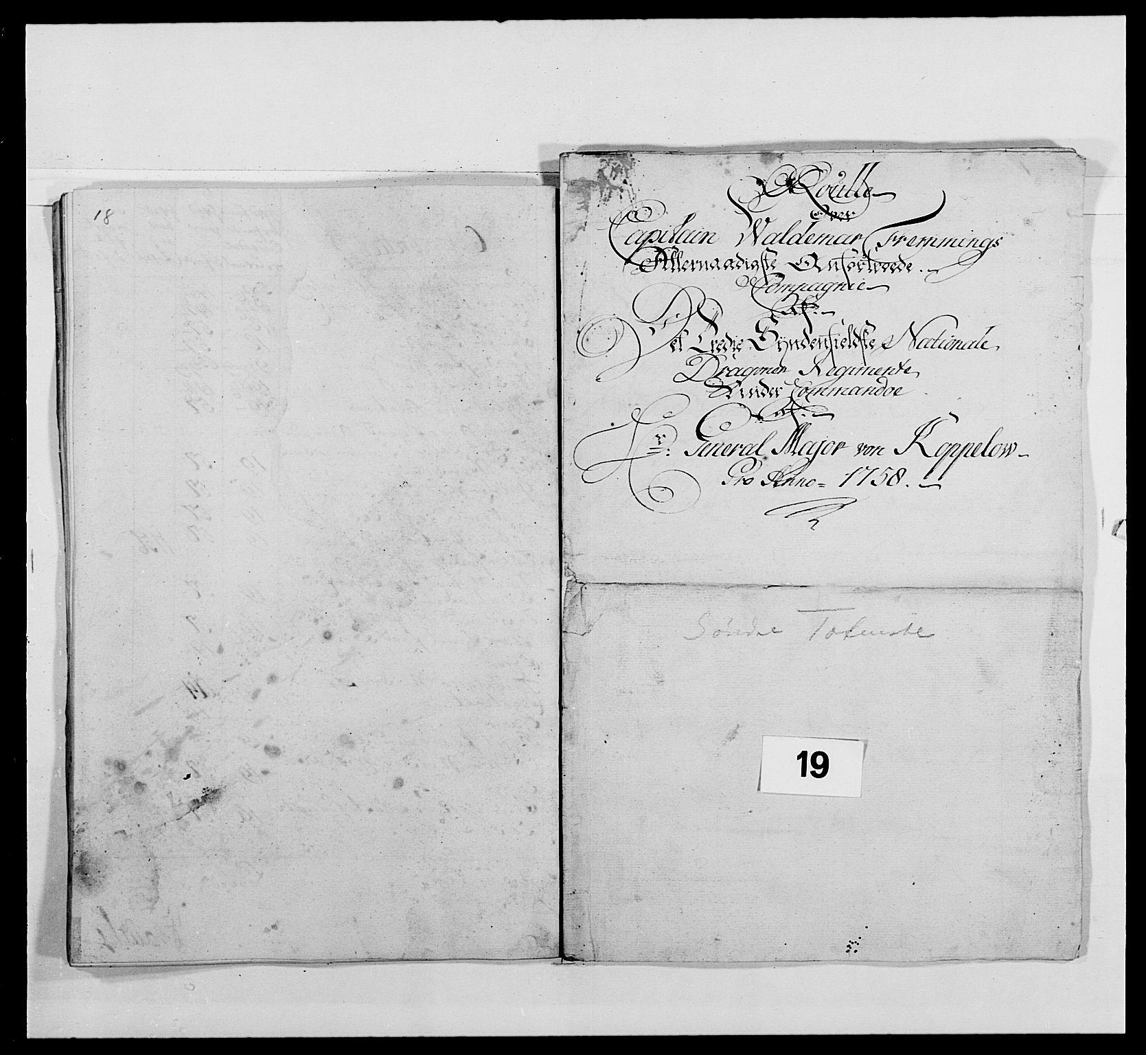 RA, Kommanderende general (KG I) med Det norske krigsdirektorium, E/Ea/L0479: 3. Sønnafjelske dragonregiment, 1756-1760, s. 358