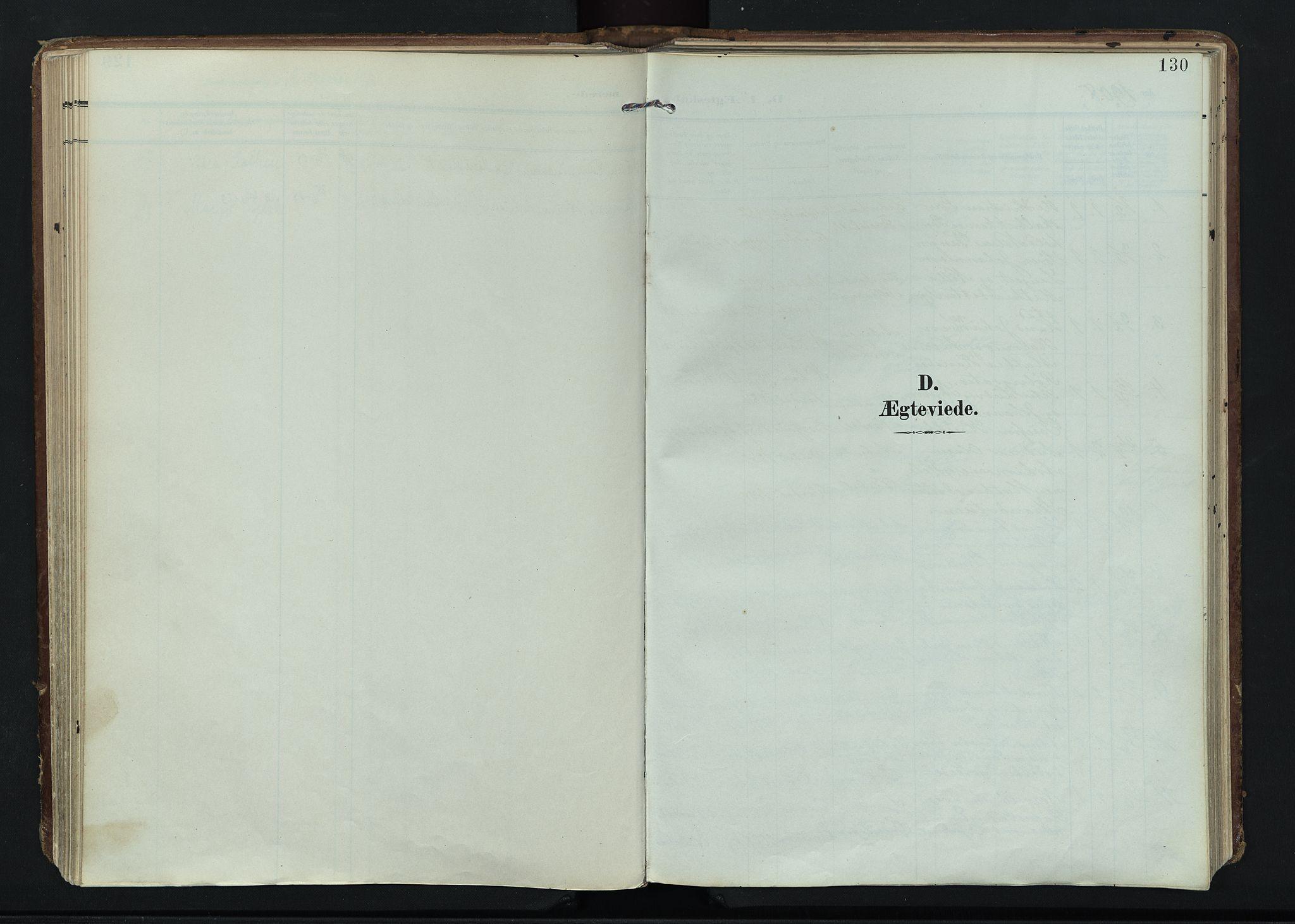 SAH, Vardal prestekontor, H/Ha/Haa/L0020: Ministerialbok nr. 20, 1907-1921, s. 130