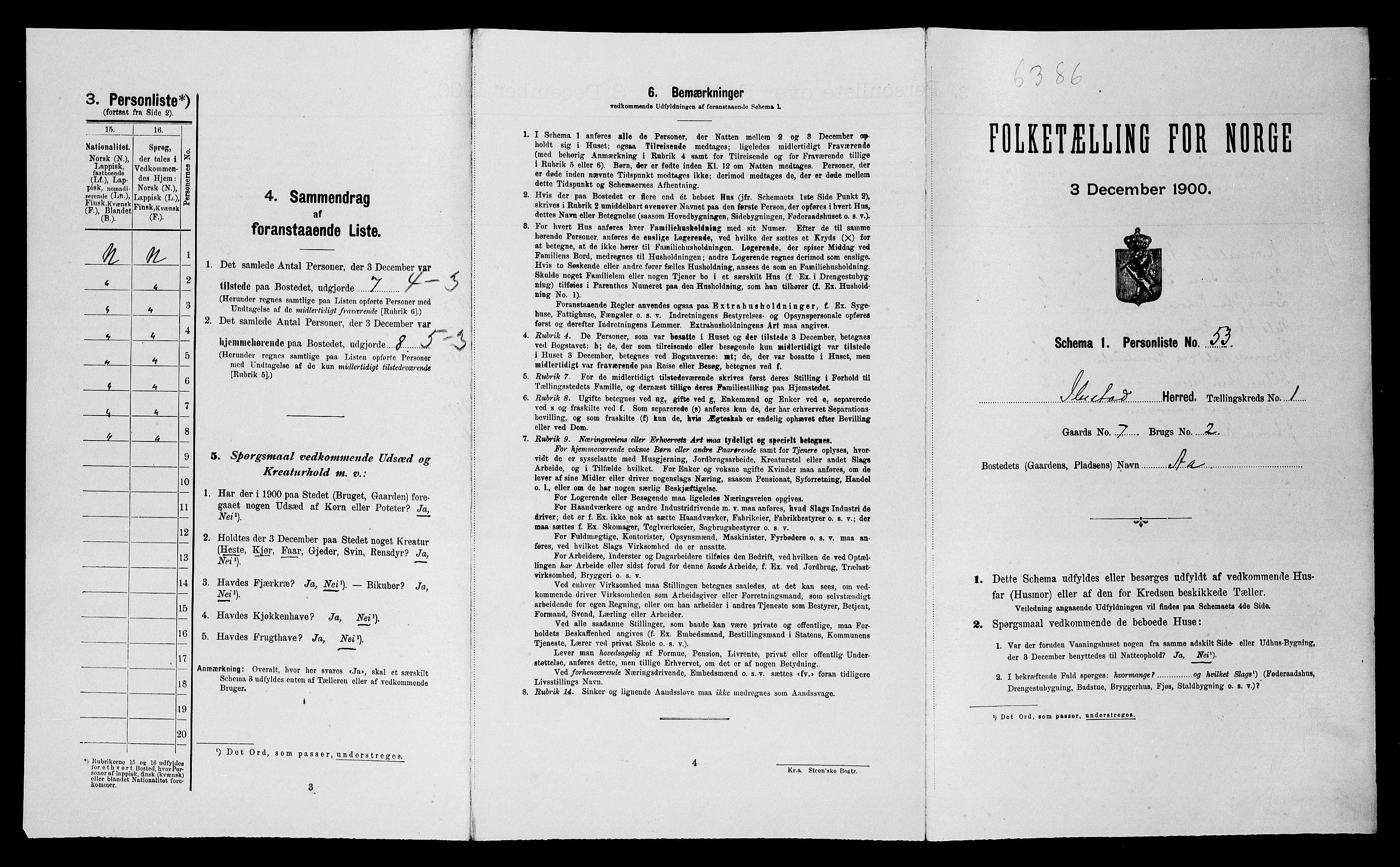 SATØ, Folketelling 1900 for 1917 Ibestad herred, 1900, s. 263
