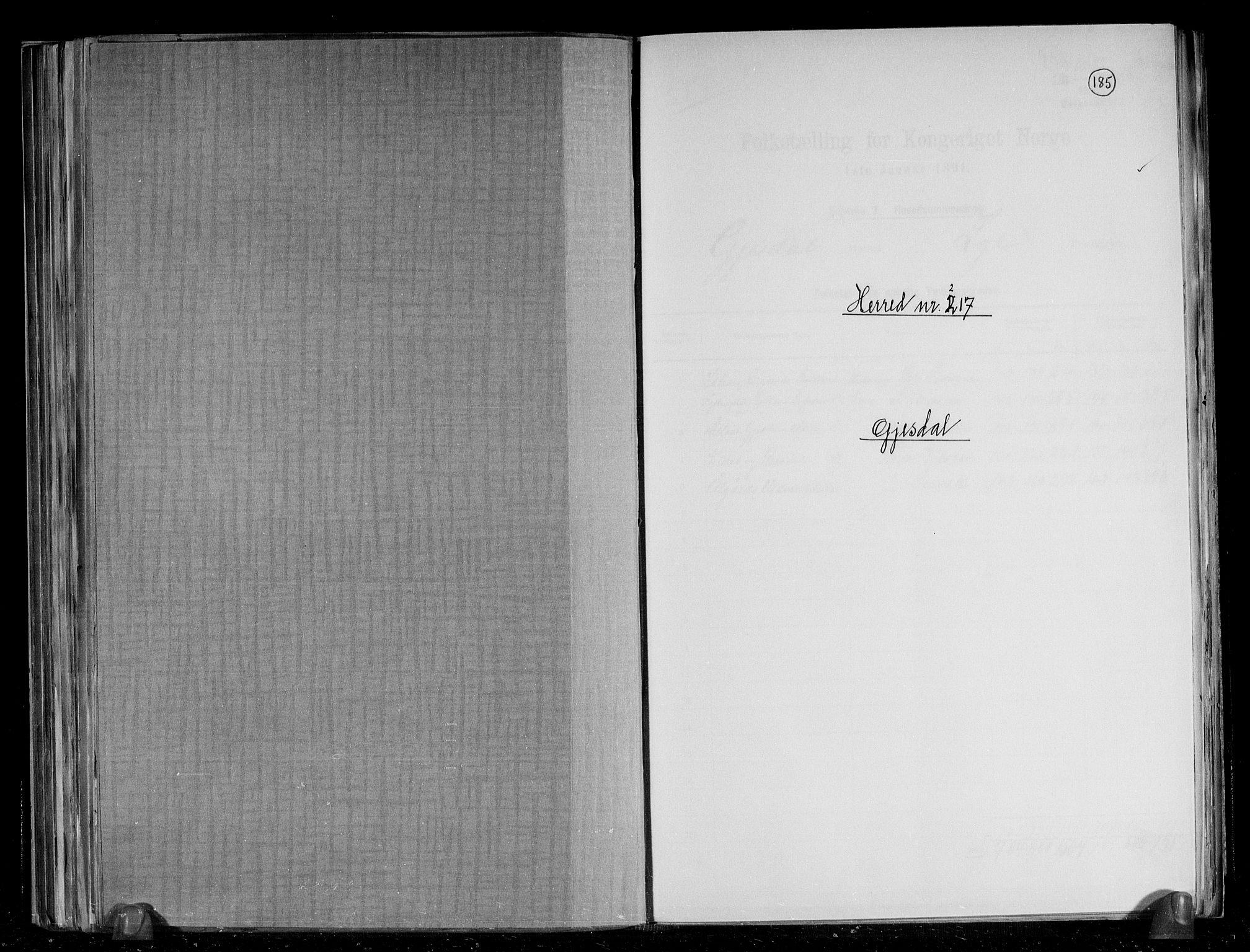 RA, Folketelling 1891 for 1122 Gjesdal herred, 1891, s. 1