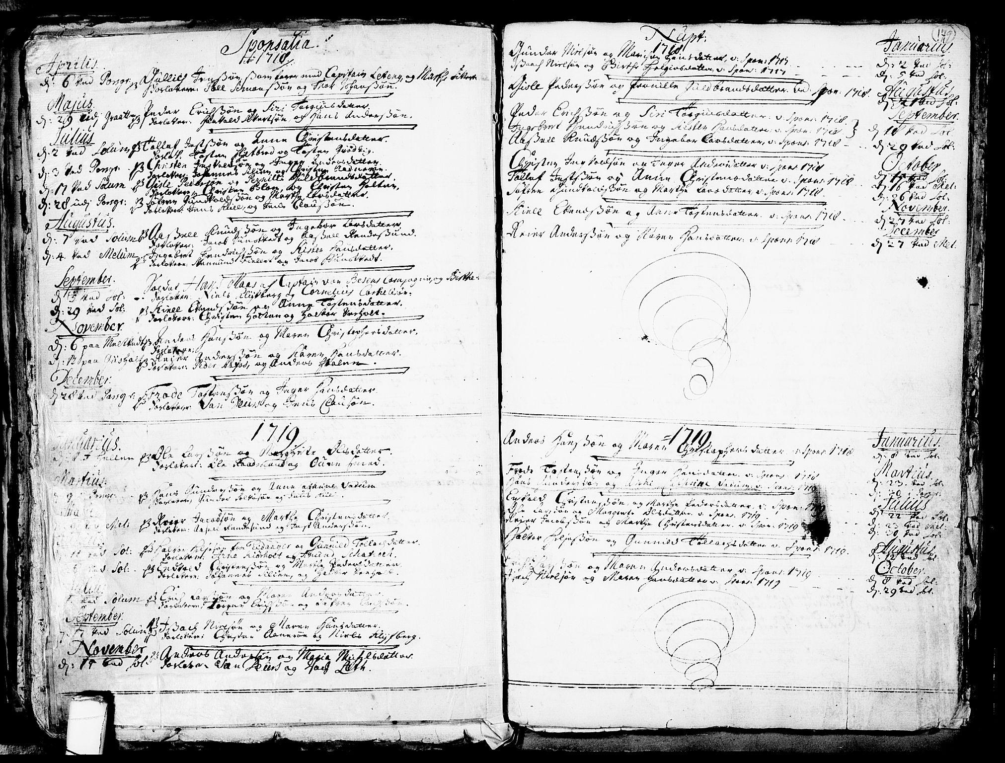 SAKO, Solum kirkebøker, F/Fa/L0002: Ministerialbok nr. I 2, 1713-1761, s. 179