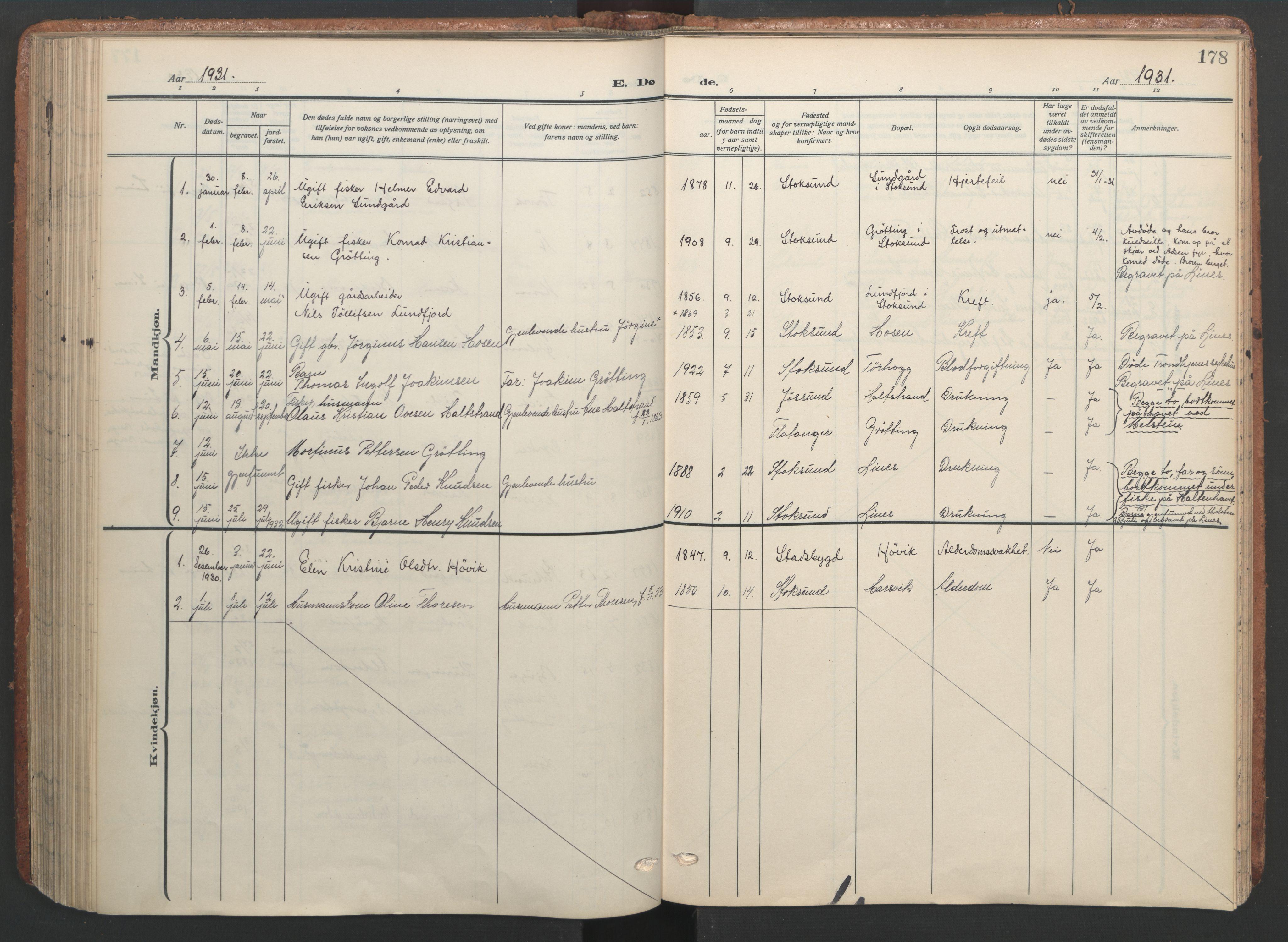 SAT, Ministerialprotokoller, klokkerbøker og fødselsregistre - Sør-Trøndelag, 656/L0694: Ministerialbok nr. 656A03, 1914-1931, s. 178