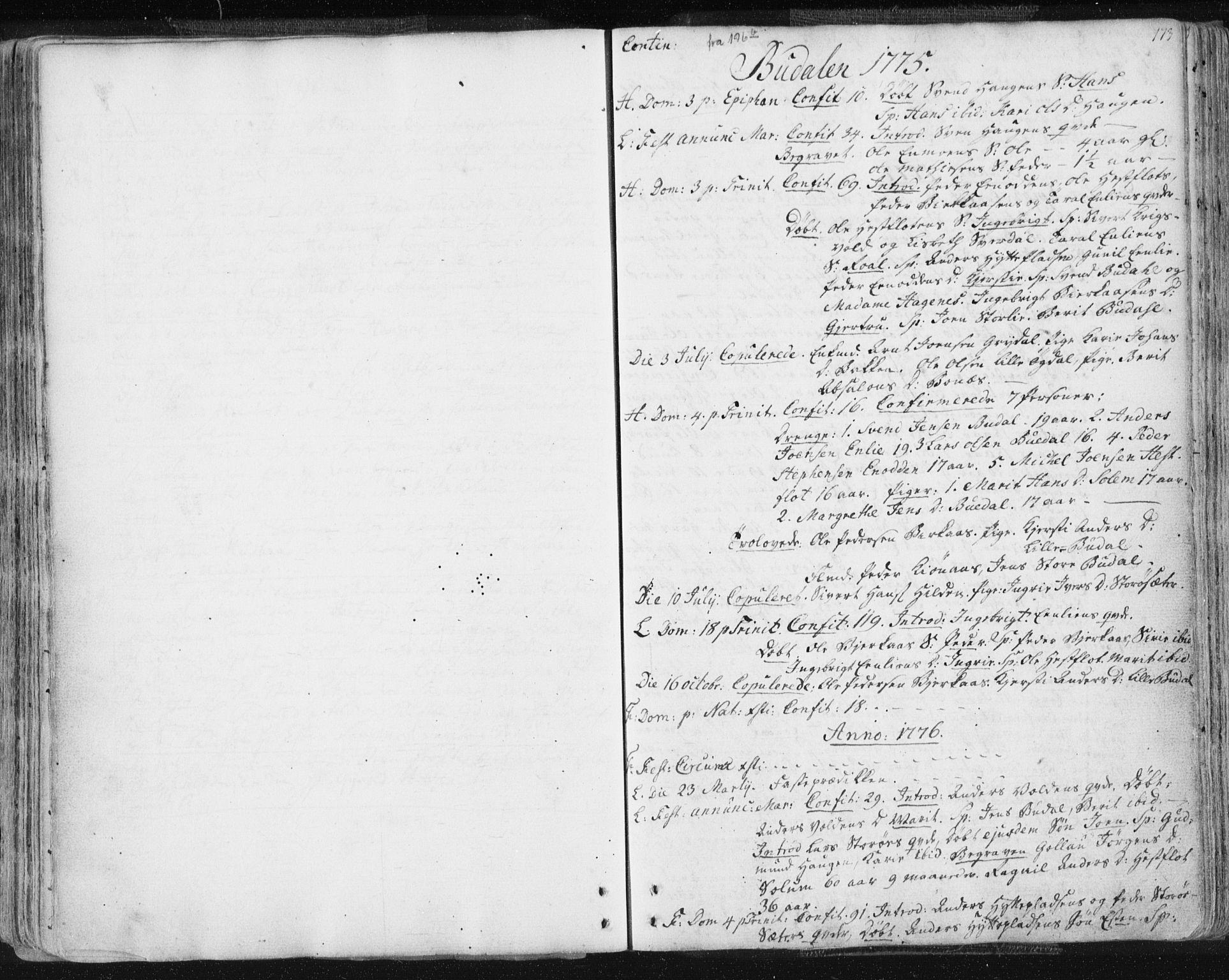 SAT, Ministerialprotokoller, klokkerbøker og fødselsregistre - Sør-Trøndelag, 687/L0991: Ministerialbok nr. 687A02, 1747-1790, s. 173