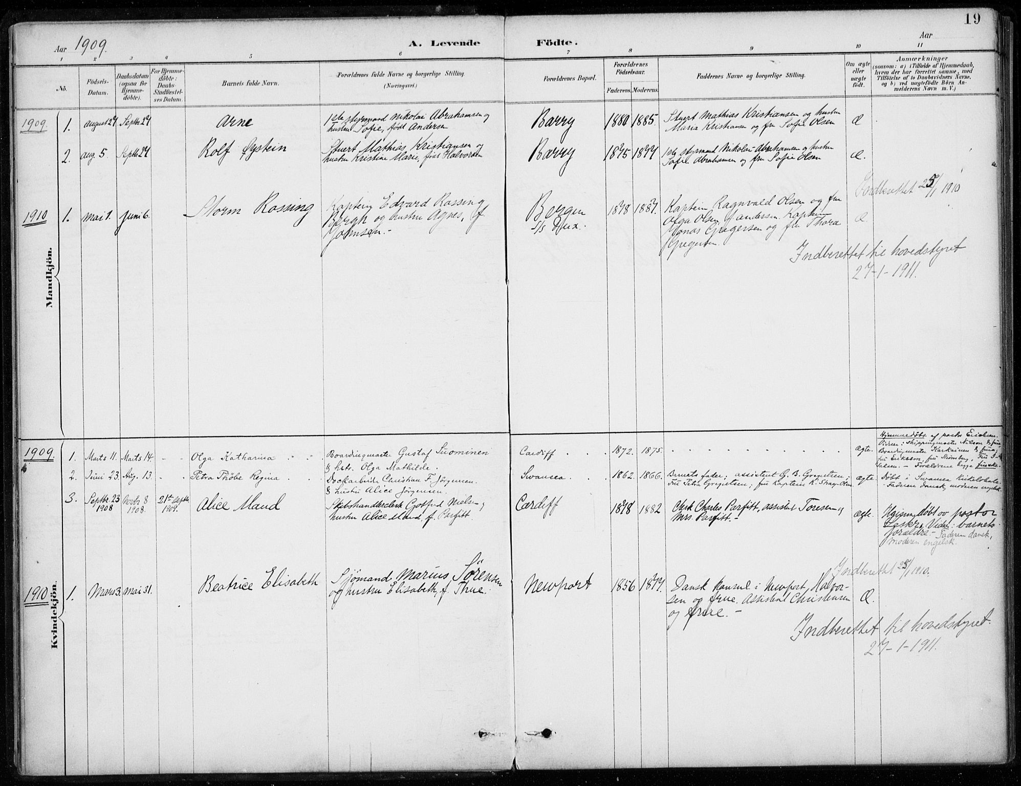 SAB, Den Norske Sjømannsmisjon i utlandet*, Ministerialbok nr. A 2, 1887-1932, s. 19