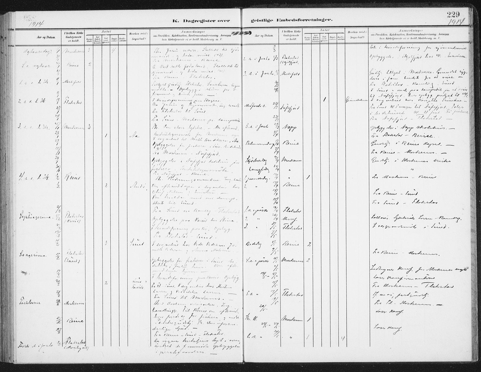 SAT, Ministerialprotokoller, klokkerbøker og fødselsregistre - Nordland, 885/L1206: Ministerialbok nr. 885A07, 1905-1915, s. 229