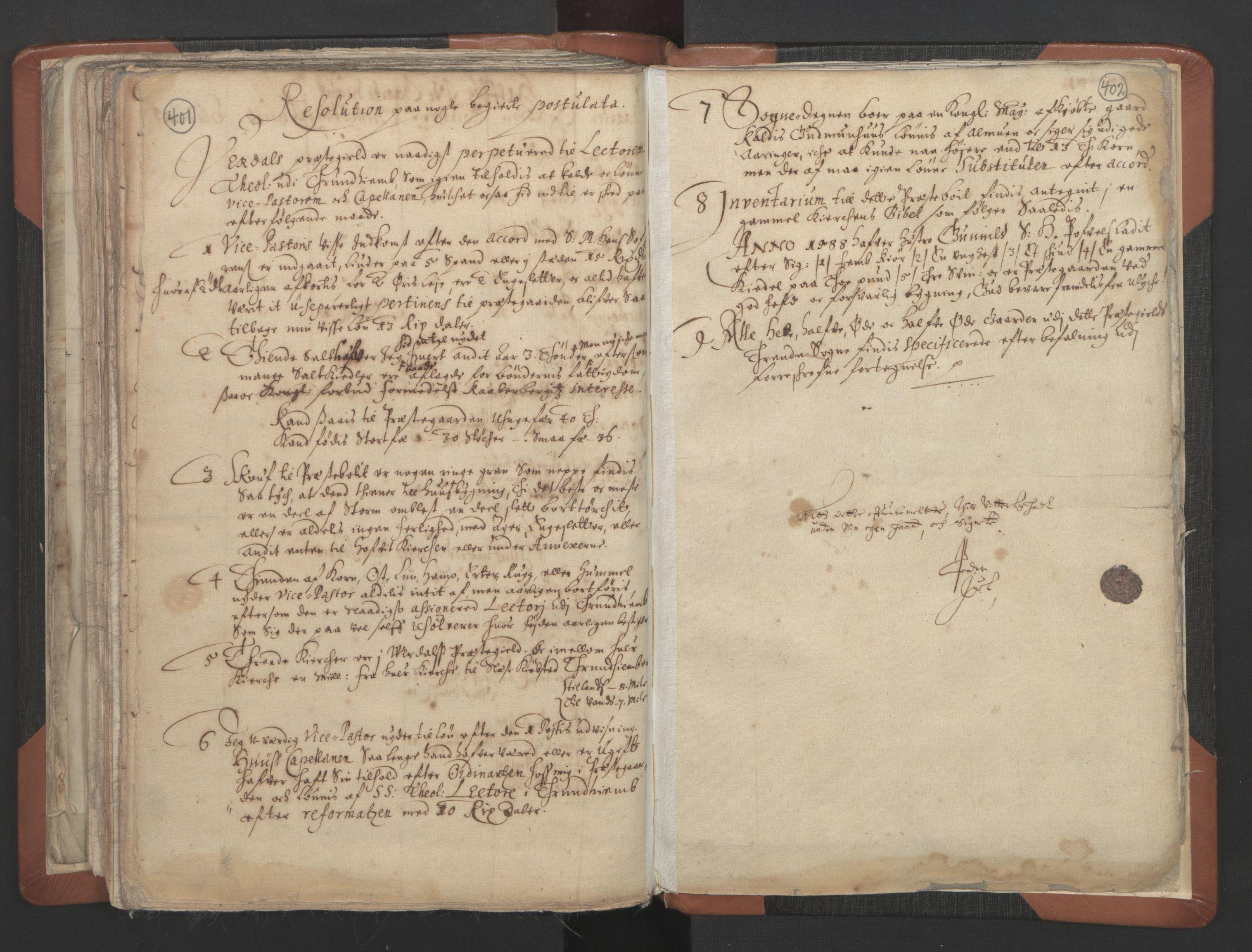 RA, Sogneprestenes manntall 1664-1666, nr. 32: Innherad prosti, 1664-1666, s. 401-402