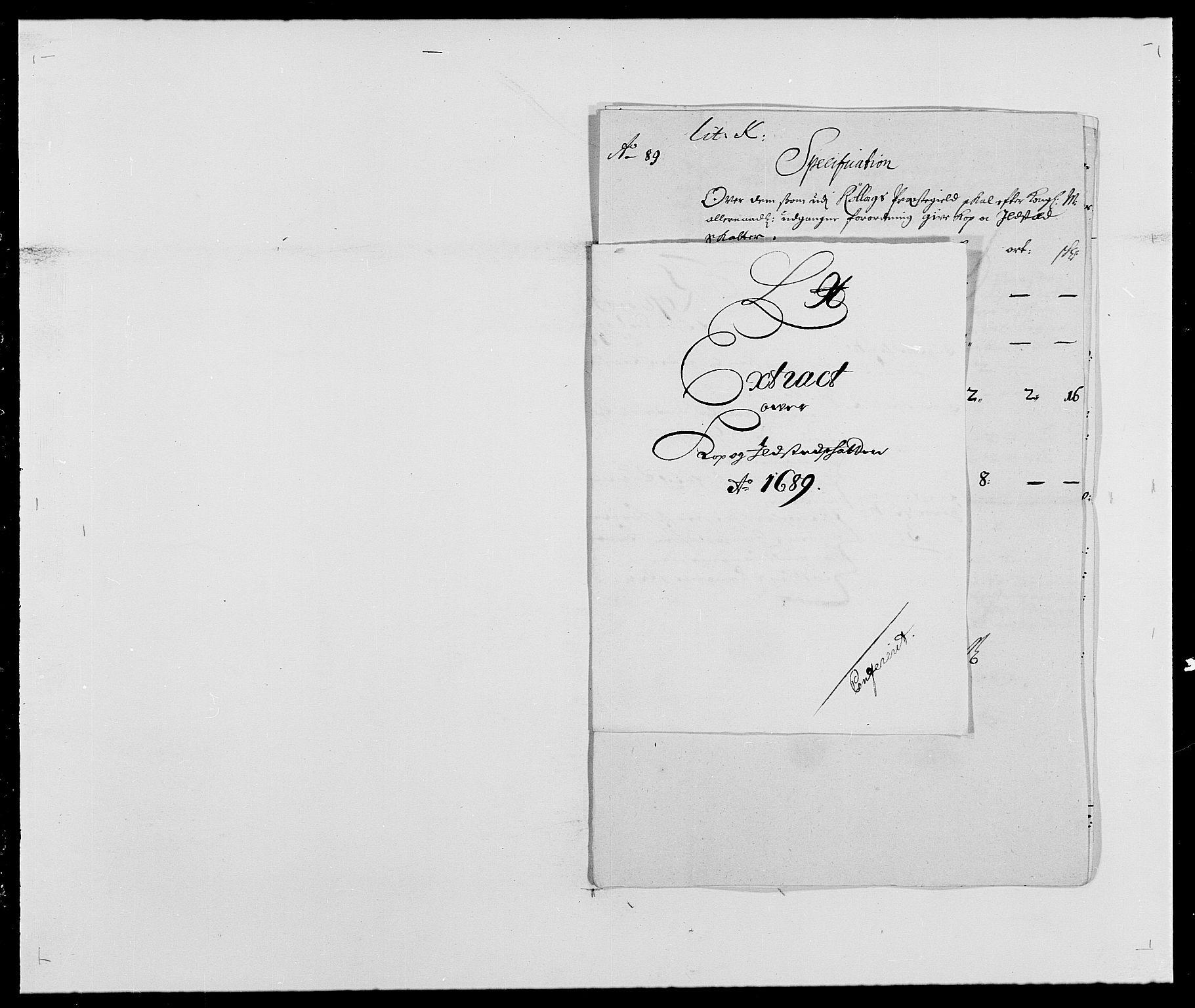 RA, Rentekammeret inntil 1814, Reviderte regnskaper, Fogderegnskap, R24/L1573: Fogderegnskap Numedal og Sandsvær, 1687-1691, s. 411