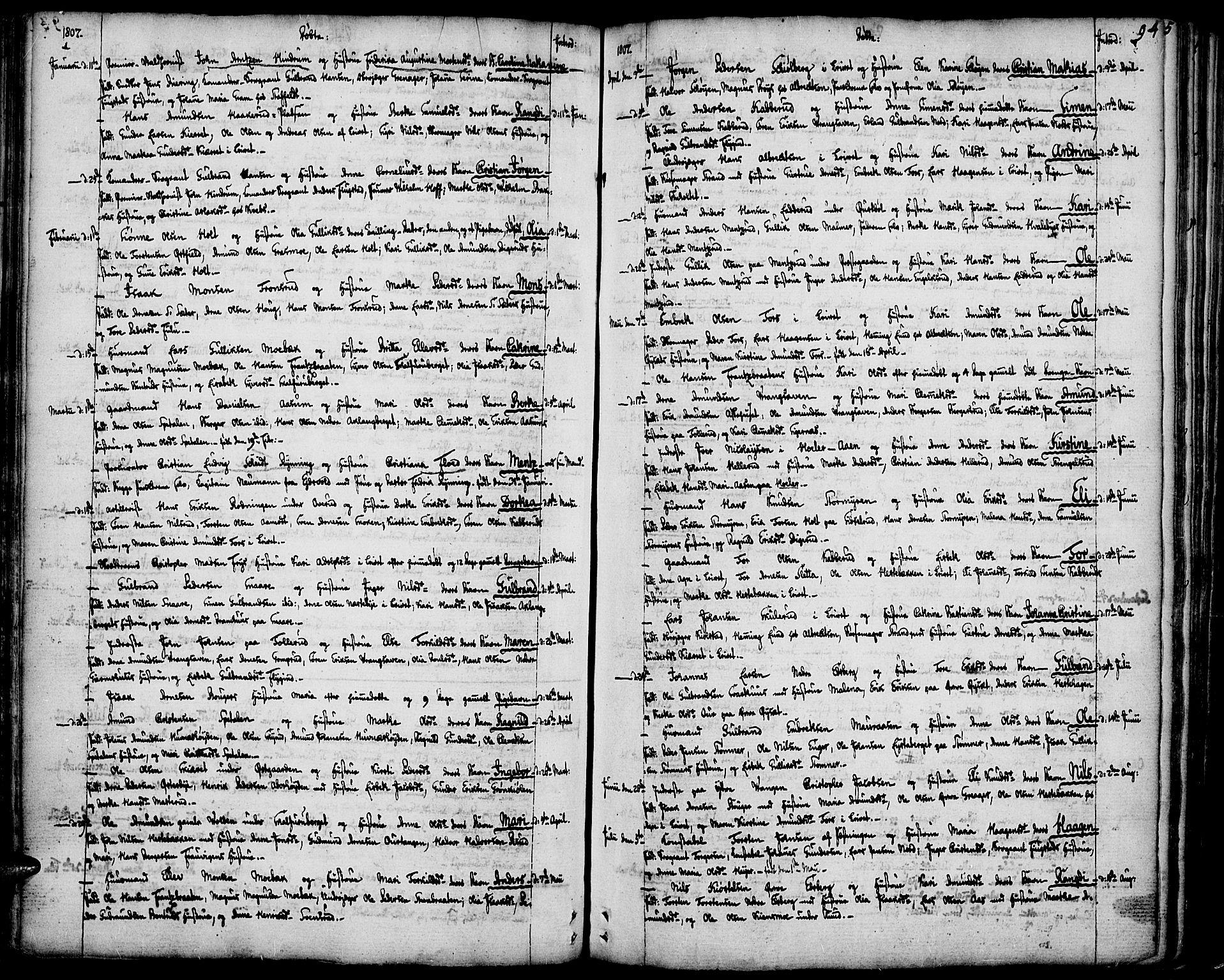 SAH, Vinger prestekontor, Ministerialbok nr. 5, 1772-1813, s. 94