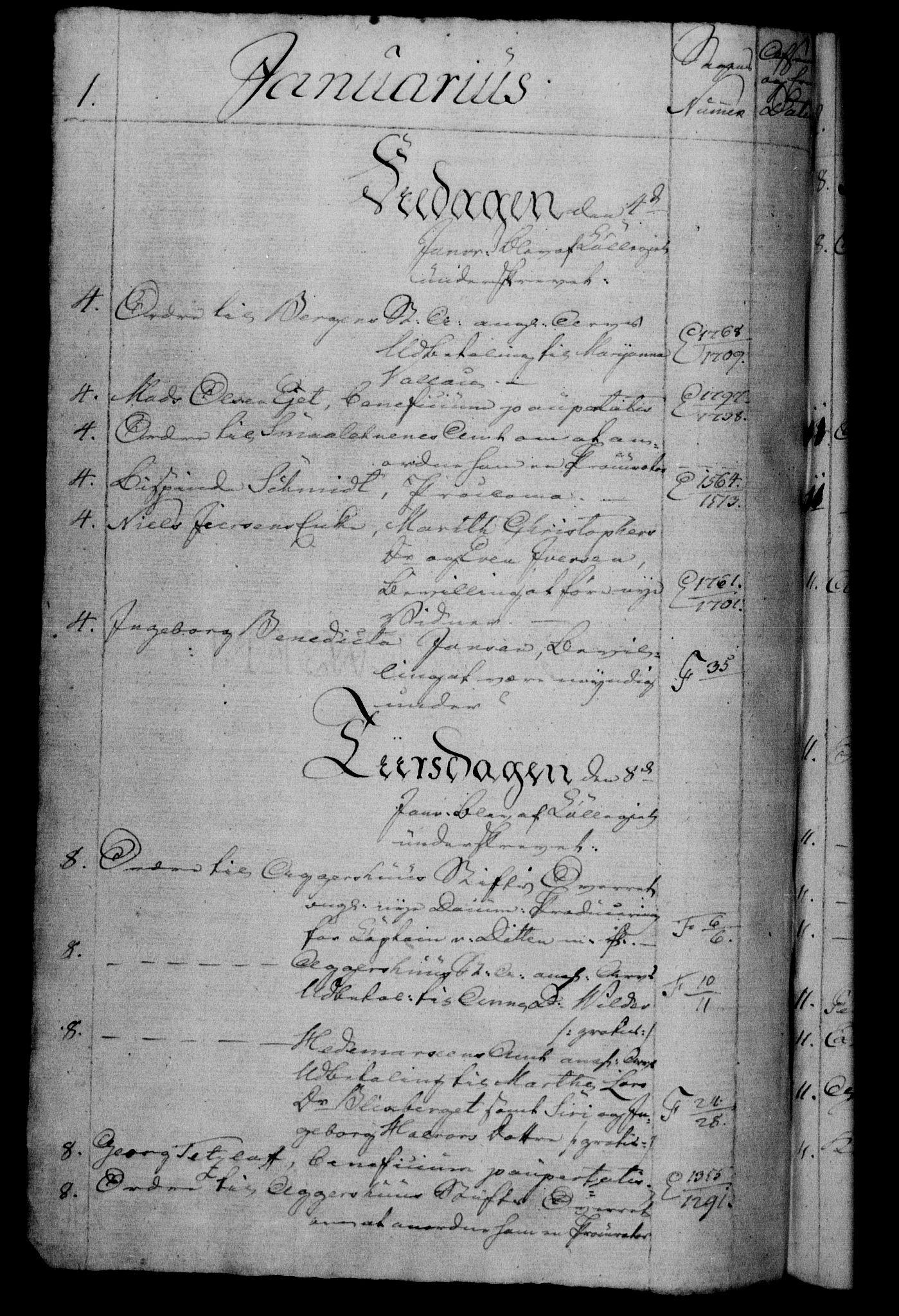 RA, Danske Kanselli 1800-1814, H/Hf/Hfb/Hfbc/L0006: Underskrivelsesbok m. register, 1805, s. 1