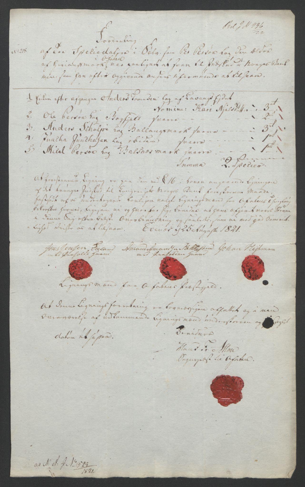 NOBA, Norges Bank/Sølvskatten 1816*, 1816-1821, s. 88
