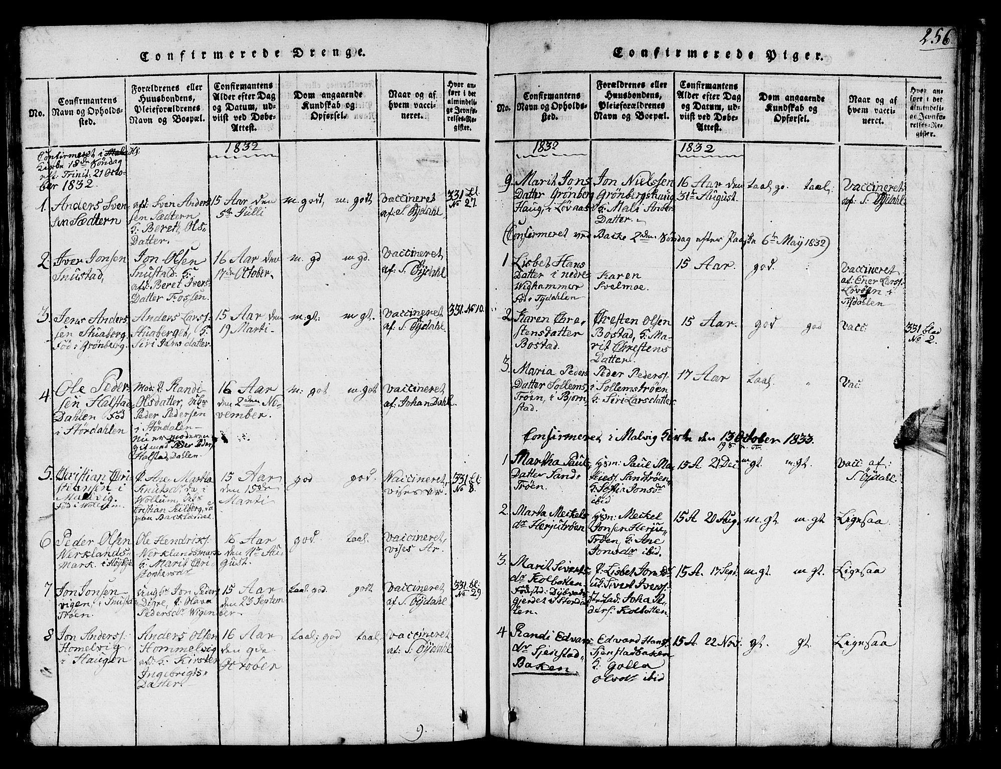 SAT, Ministerialprotokoller, klokkerbøker og fødselsregistre - Sør-Trøndelag, 616/L0420: Klokkerbok nr. 616C03, 1817-1835, s. 256