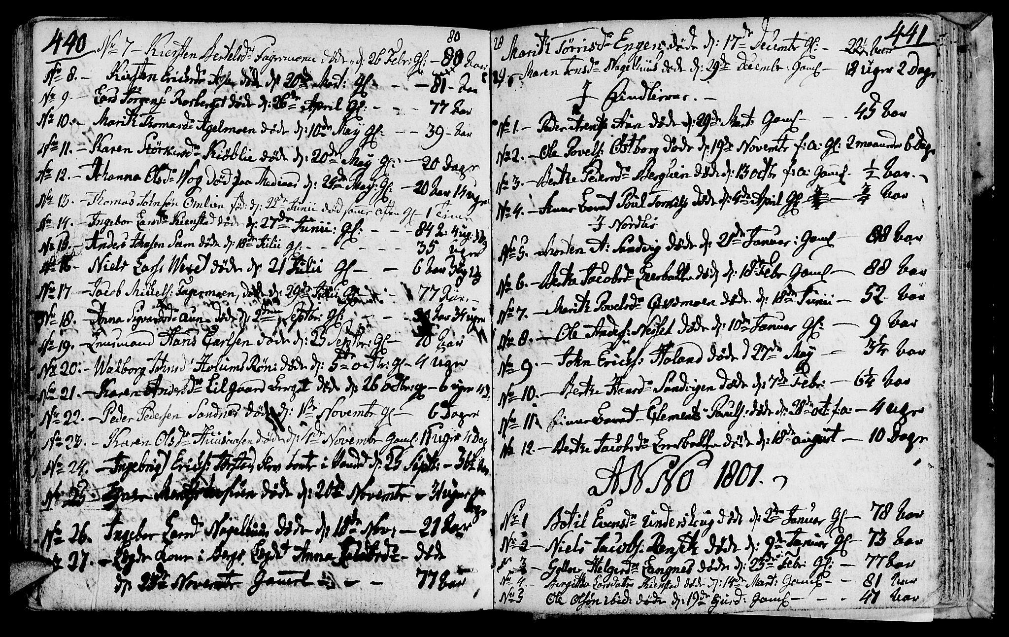 SAT, Ministerialprotokoller, klokkerbøker og fødselsregistre - Nord-Trøndelag, 749/L0468: Ministerialbok nr. 749A02, 1787-1817, s. 440-441