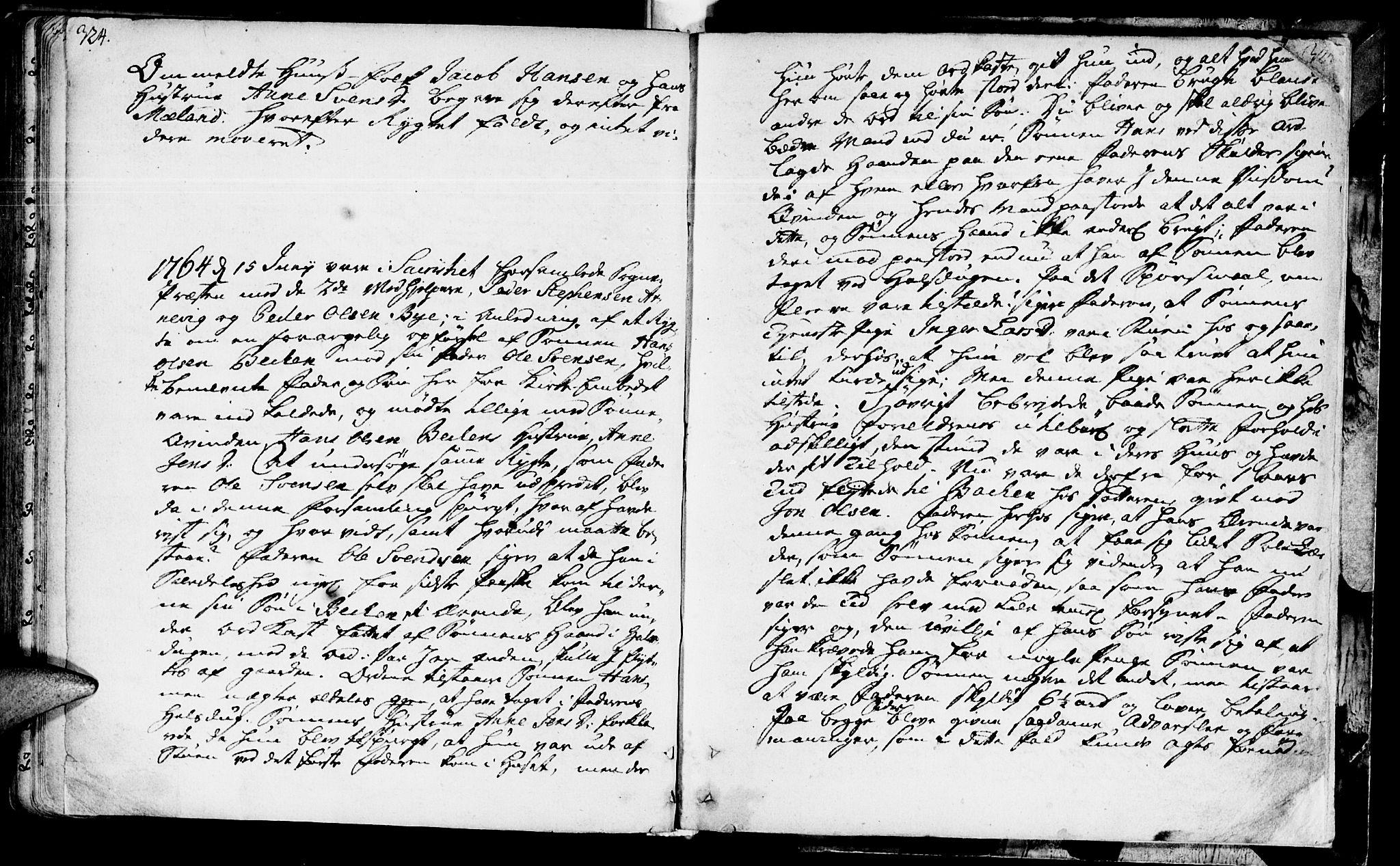 SAT, Ministerialprotokoller, klokkerbøker og fødselsregistre - Sør-Trøndelag, 655/L0672: Ministerialbok nr. 655A01, 1750-1779, s. 324-325