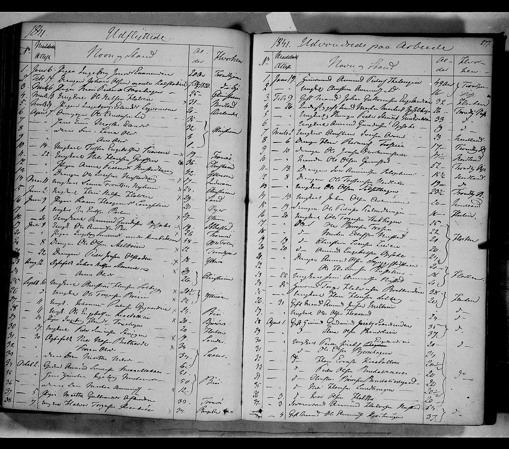 SAH, Gausdal prestekontor, Ministerialbok nr. 7, 1840-1850, s. 277