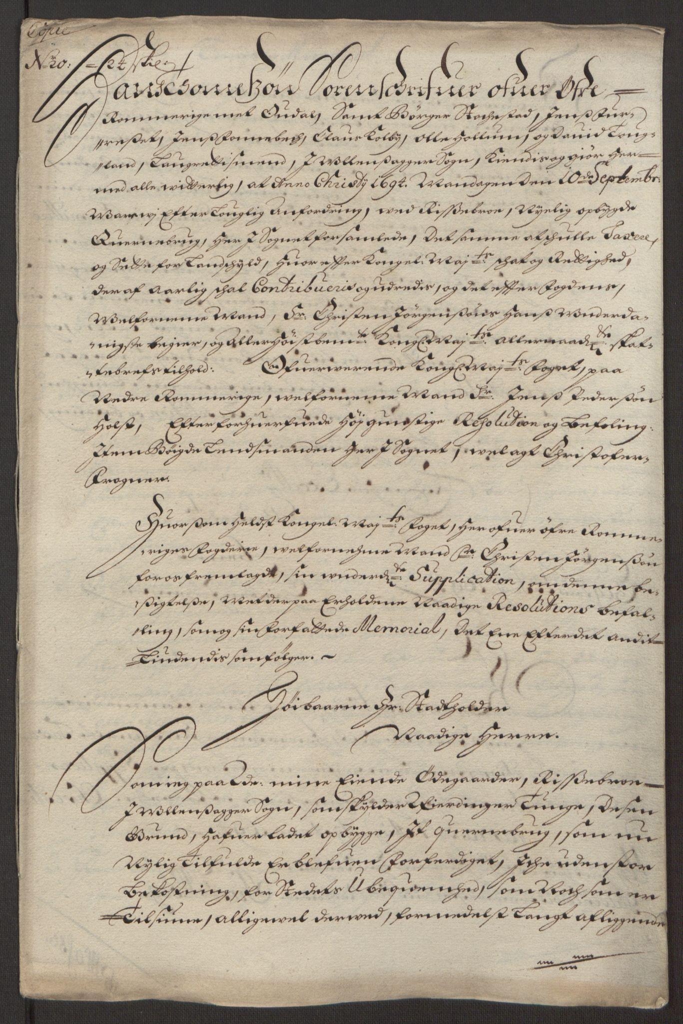 RA, Rentekammeret inntil 1814, Reviderte regnskaper, Fogderegnskap, R12/L0707: Fogderegnskap Øvre Romerike, 1695, s. 215