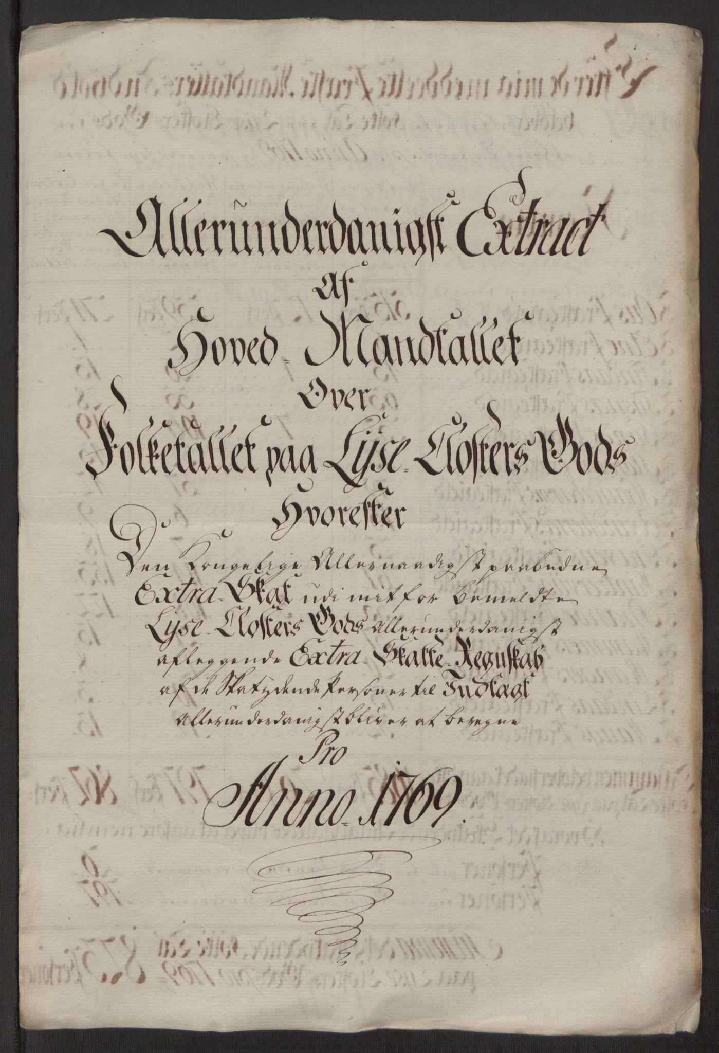 RA, Rentekammeret inntil 1814, Reviderte regnskaper, Fogderegnskap, R50/L3180: Ekstraskatten Lyse kloster, 1762-1783, s. 217
