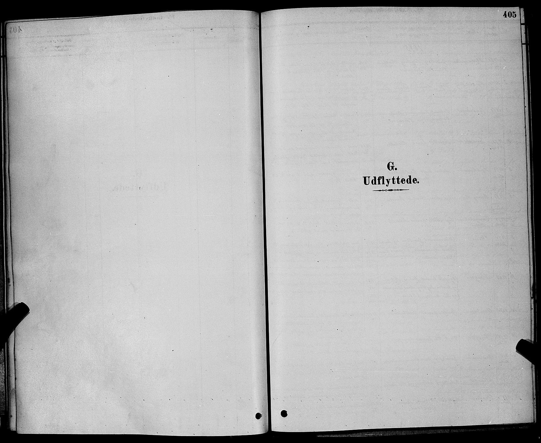 SAKO, Bamble kirkebøker, G/Ga/L0008: Klokkerbok nr. I 8, 1878-1888, s. 405