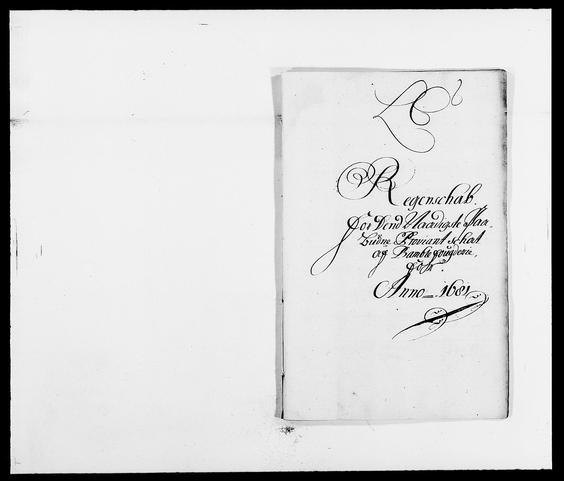 RA, Rentekammeret inntil 1814, Reviderte regnskaper, Fogderegnskap, R34/L2045: Fogderegnskap Bamble, 1680-1681, s. 320