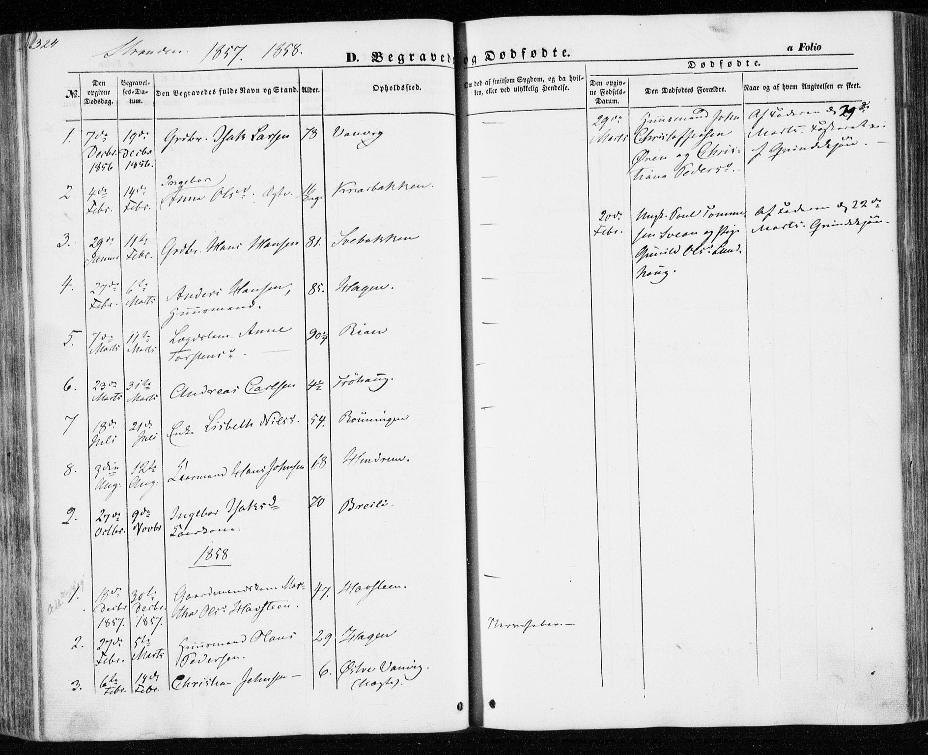 SAT, Ministerialprotokoller, klokkerbøker og fødselsregistre - Nord-Trøndelag, 701/L0008: Ministerialbok nr. 701A08 /2, 1854-1863, s. 324