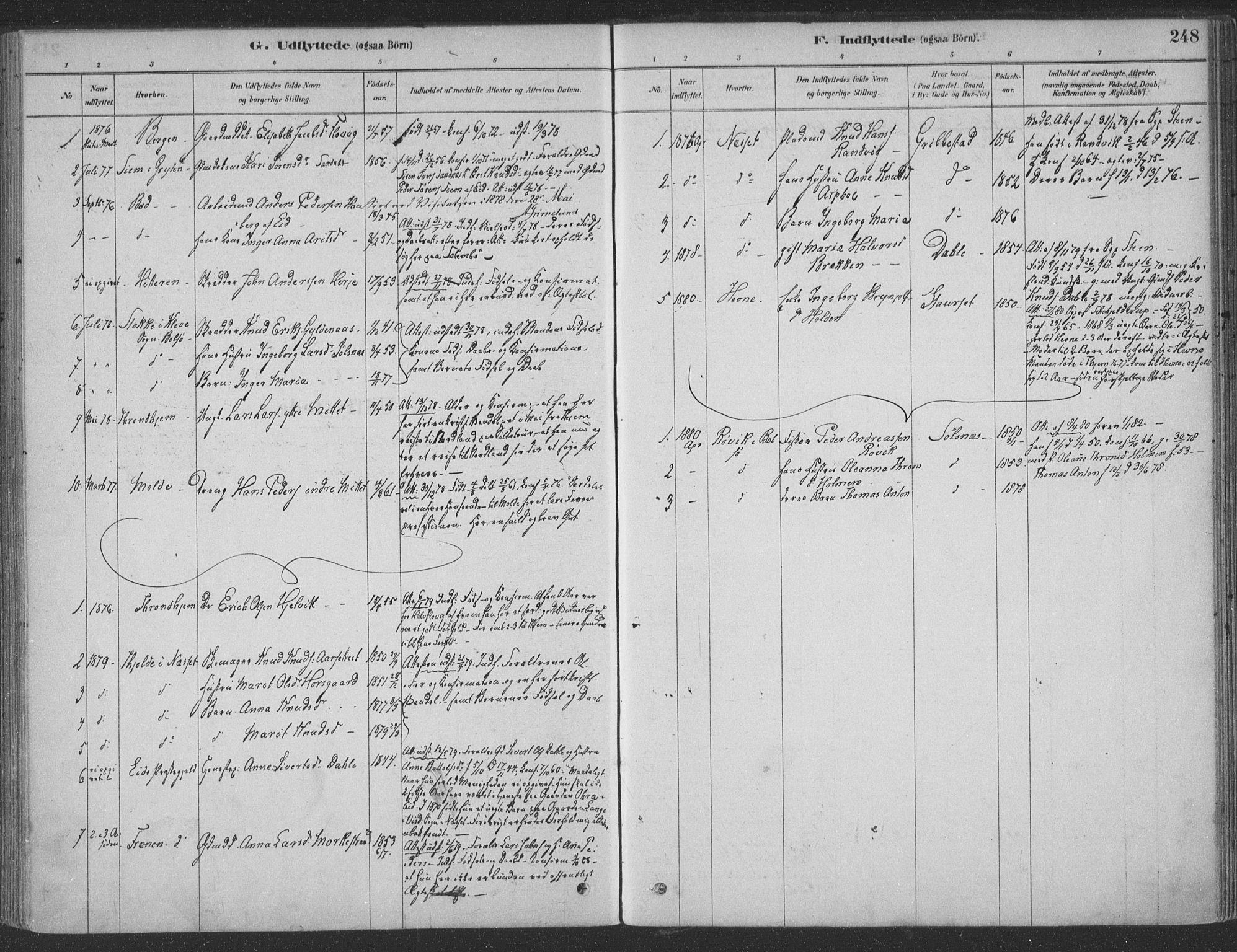 SAT, Ministerialprotokoller, klokkerbøker og fødselsregistre - Møre og Romsdal, 547/L0604: Ministerialbok nr. 547A06, 1878-1906, s. 248