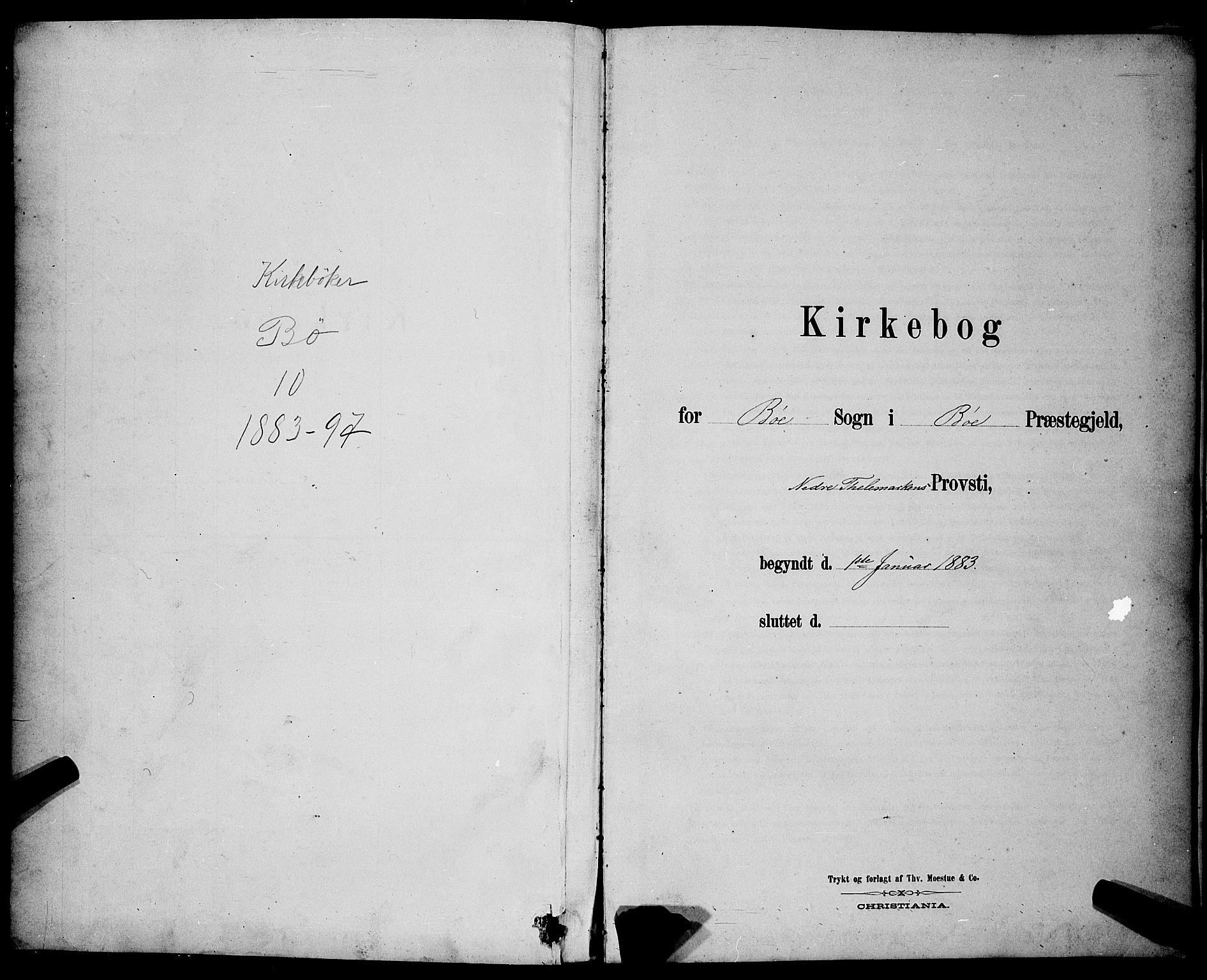 SAKO, Bø kirkebøker, G/Ga/L0005: Klokkerbok nr. 5, 1883-1897