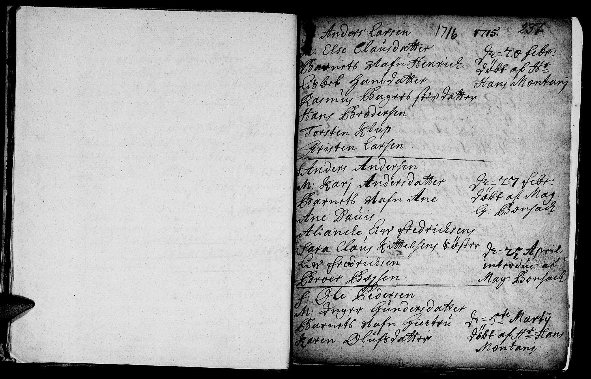 SAT, Ministerialprotokoller, klokkerbøker og fødselsregistre - Sør-Trøndelag, 601/L0035: Ministerialbok nr. 601A03, 1713-1728, s. 237