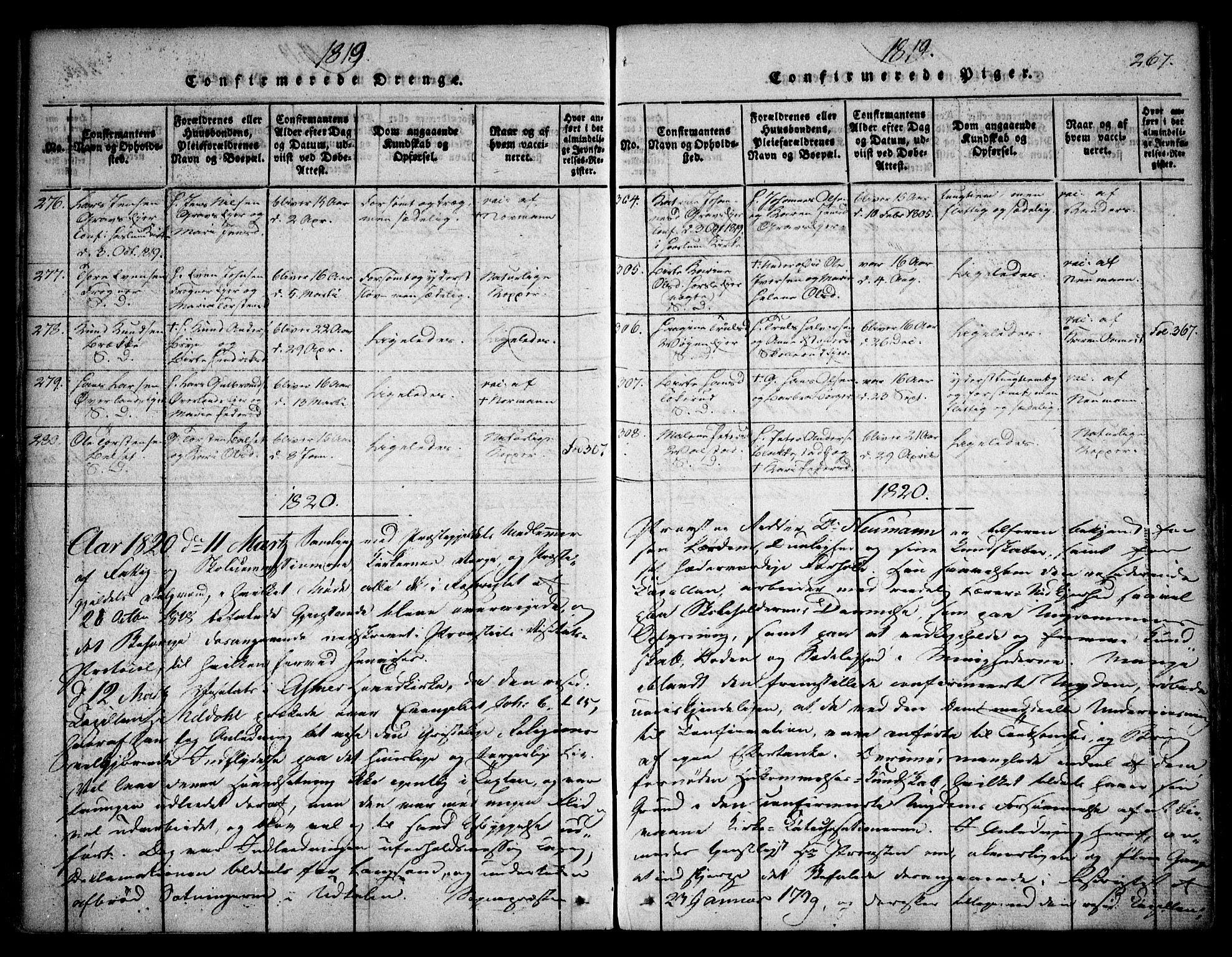 SAO, Asker prestekontor Kirkebøker, F/Fa/L0006: Ministerialbok nr. I 6, 1814-1824, s. 267