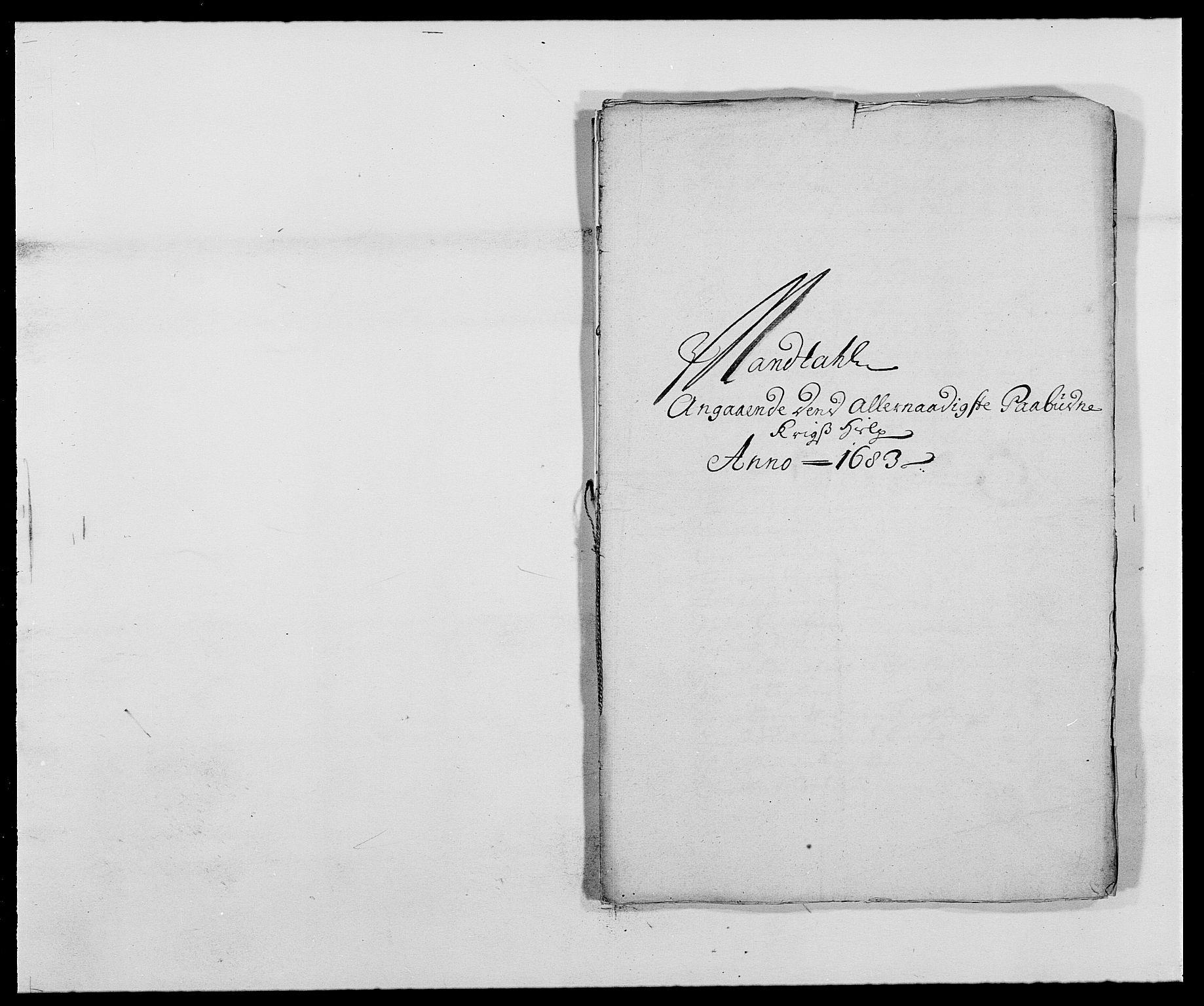 RA, Rentekammeret inntil 1814, Reviderte regnskaper, Fogderegnskap, R42/L2541: Mandal fogderi, 1681-1684, s. 196