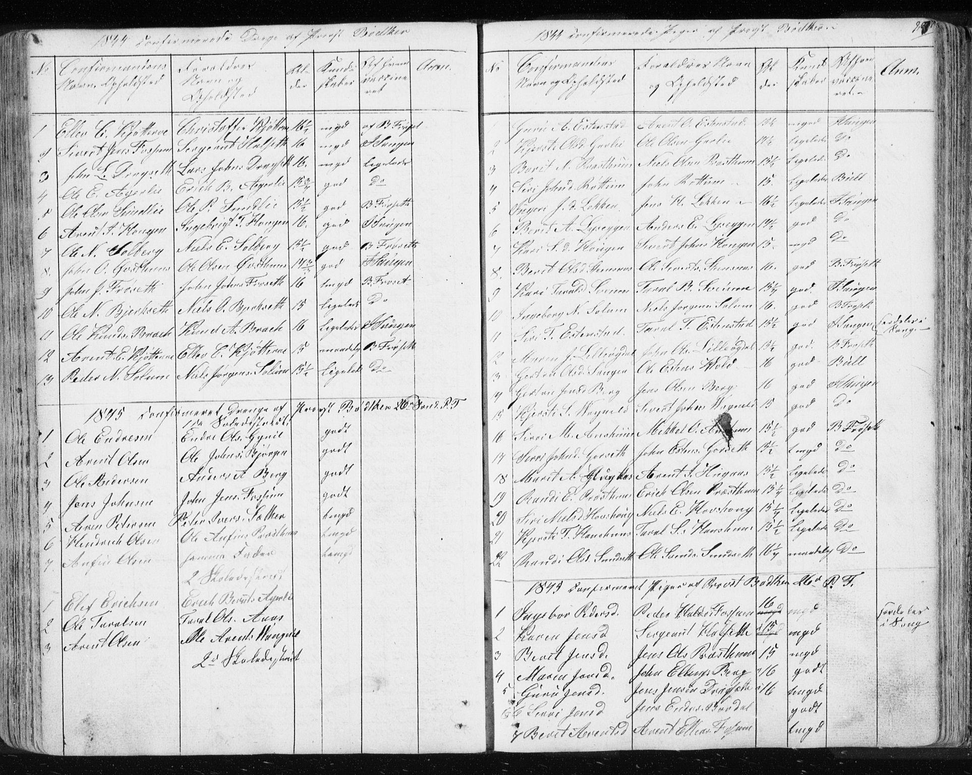 SAT, Ministerialprotokoller, klokkerbøker og fødselsregistre - Sør-Trøndelag, 689/L1043: Klokkerbok nr. 689C02, 1816-1892, s. 267