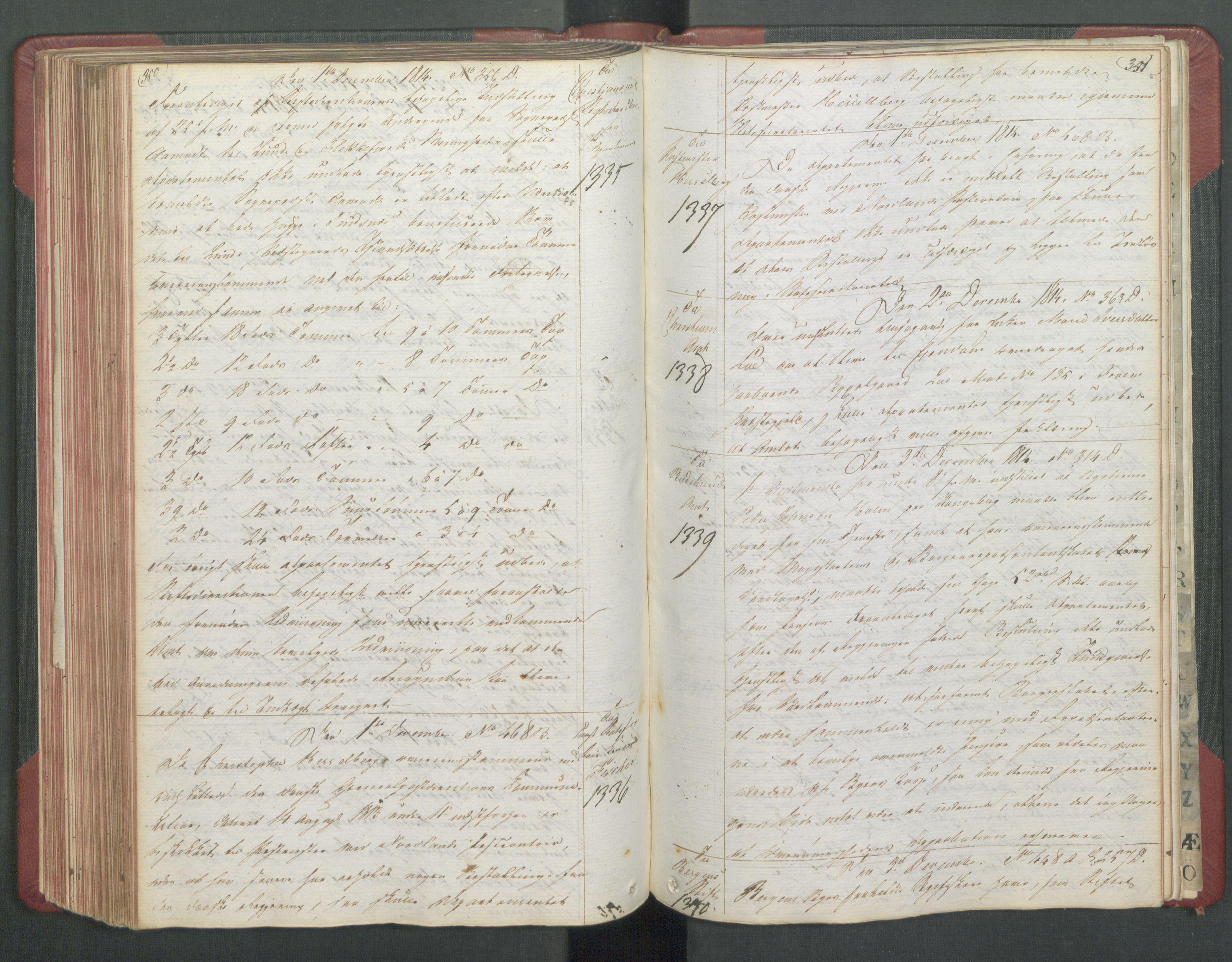 RA, Departementene i 1814, Fb/L0028: Kopibok 1-1371, 1814, s. 350-351